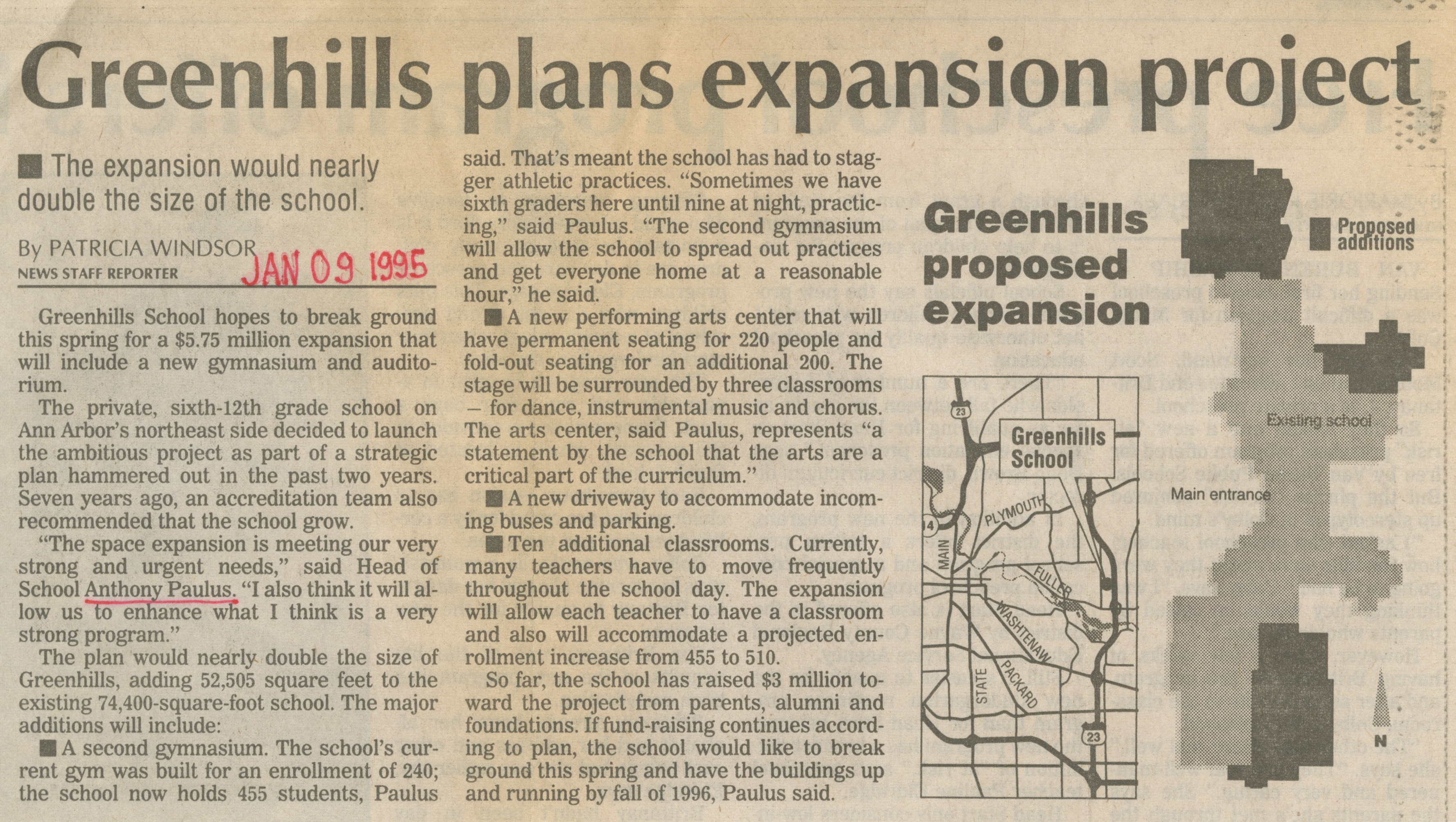 Greenhills Plans Expansion Project image