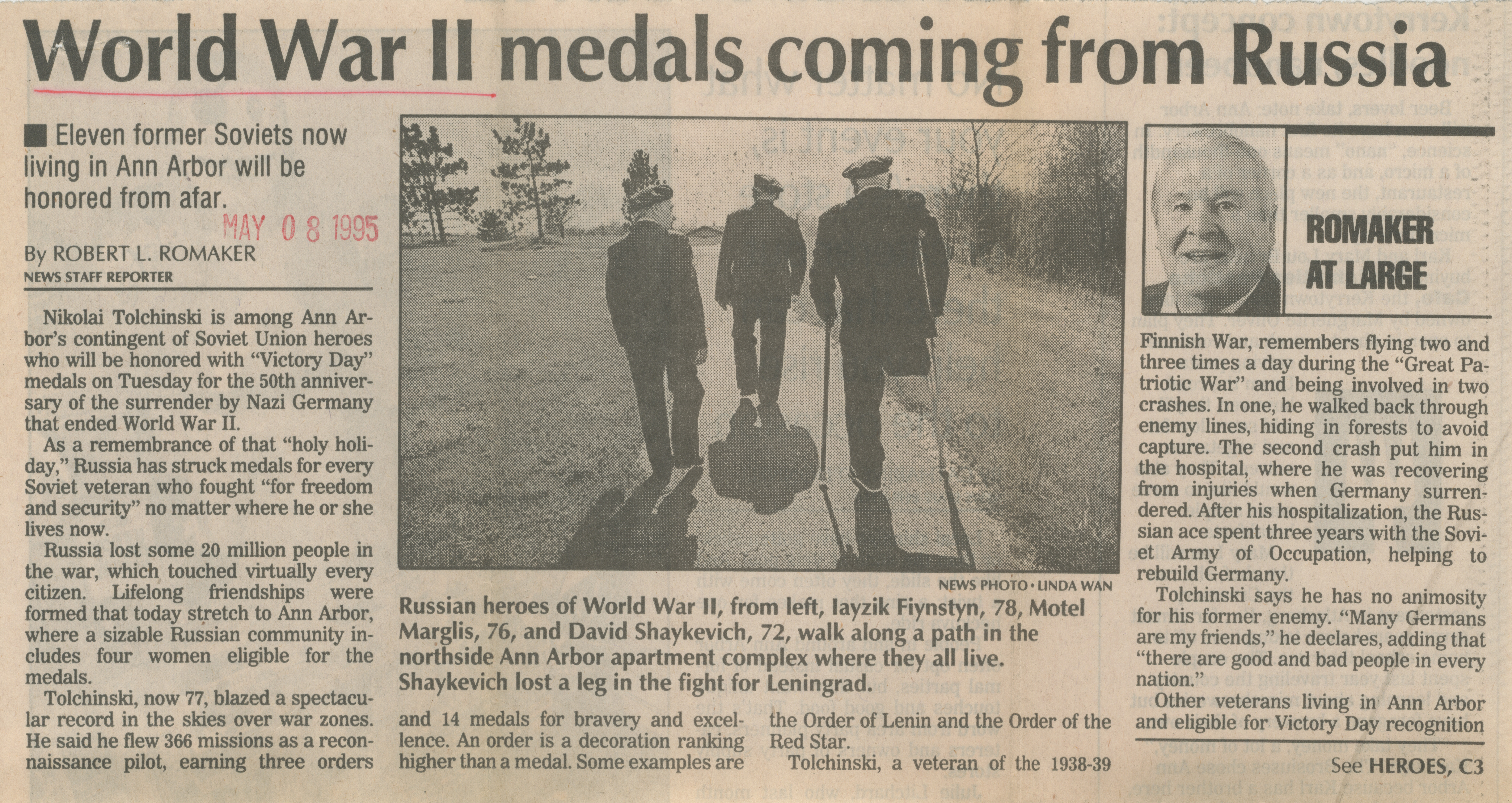 World War II medals coming from Russia image