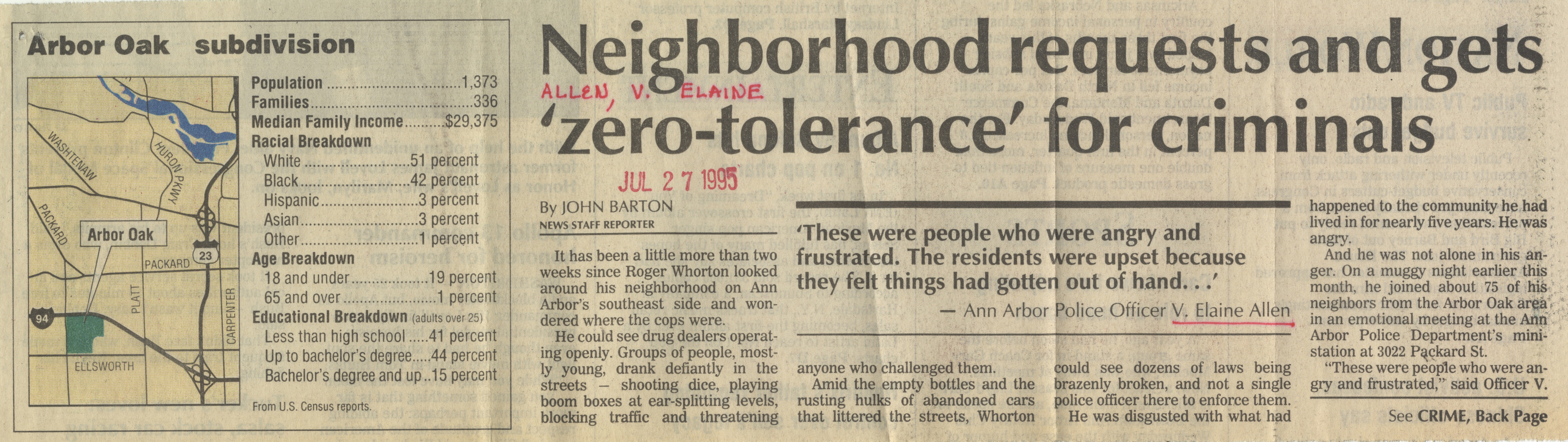 Neighborhood Requests And Gets 'Zero-Tolerance' For Criminals image