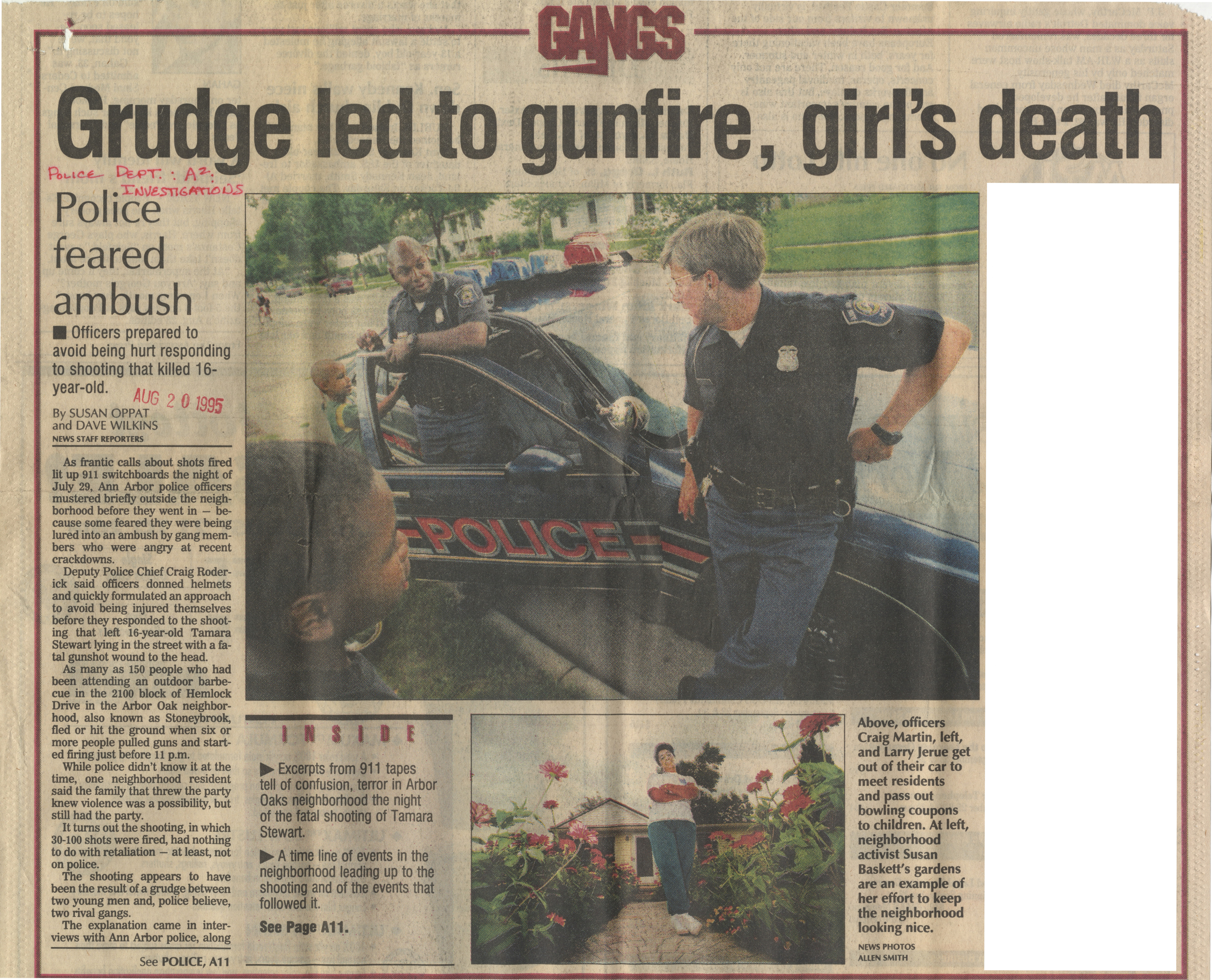 Grudge Led To Gunfire, Girl's Death image