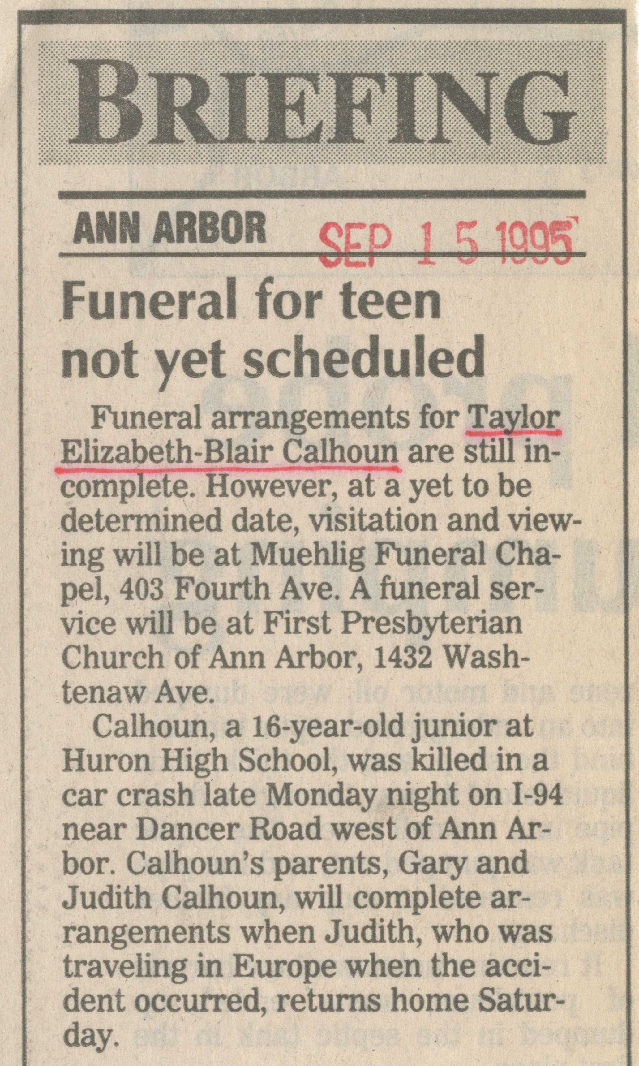 Funeral for teen not yet scheduled image