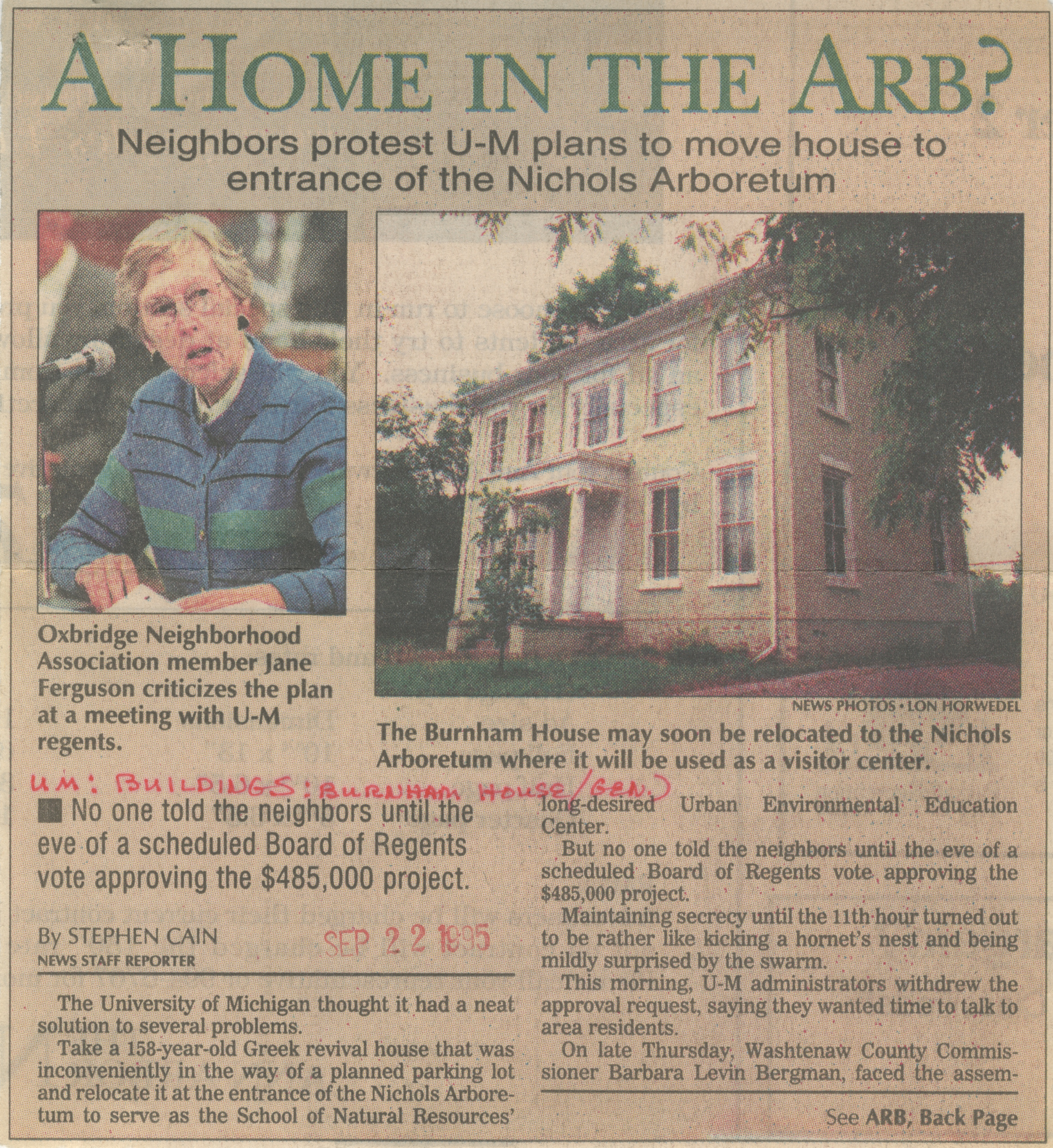 A Home In The Arb? image