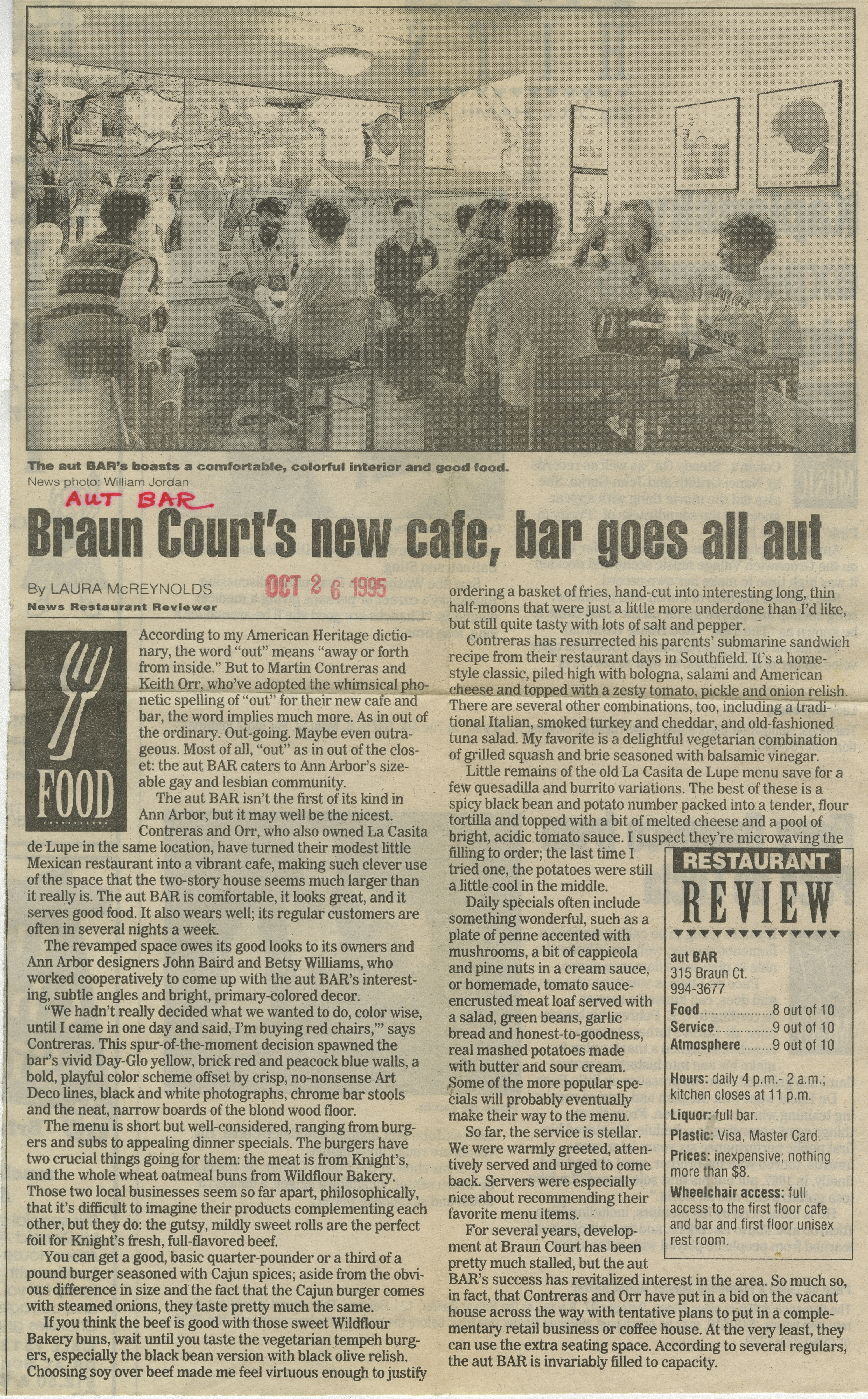 Braun Court's new cafe, bar goes all aut image