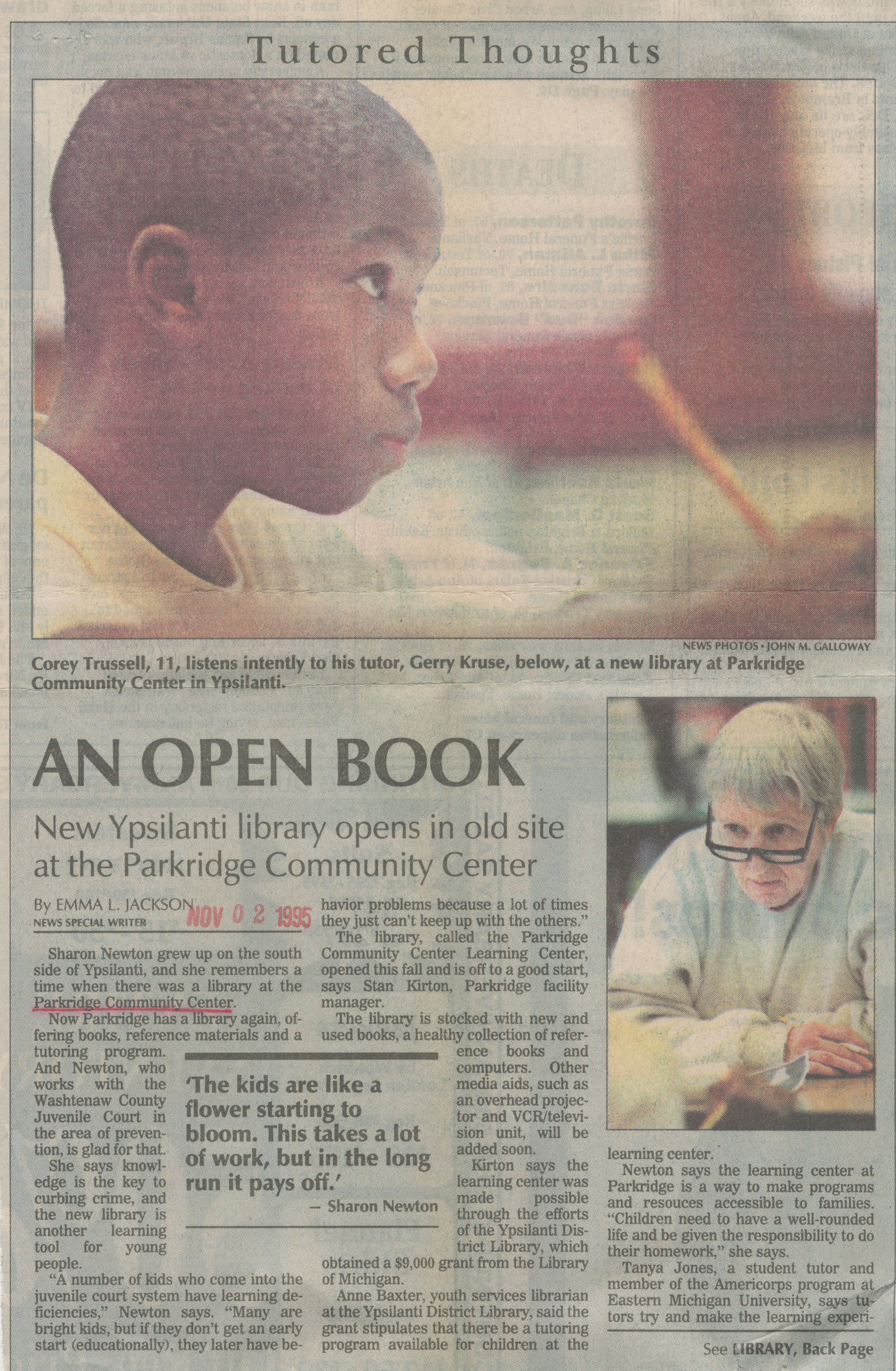An Open Book: New Ypsilanti Library Opens in Old Site at the Parkridge Community Center image