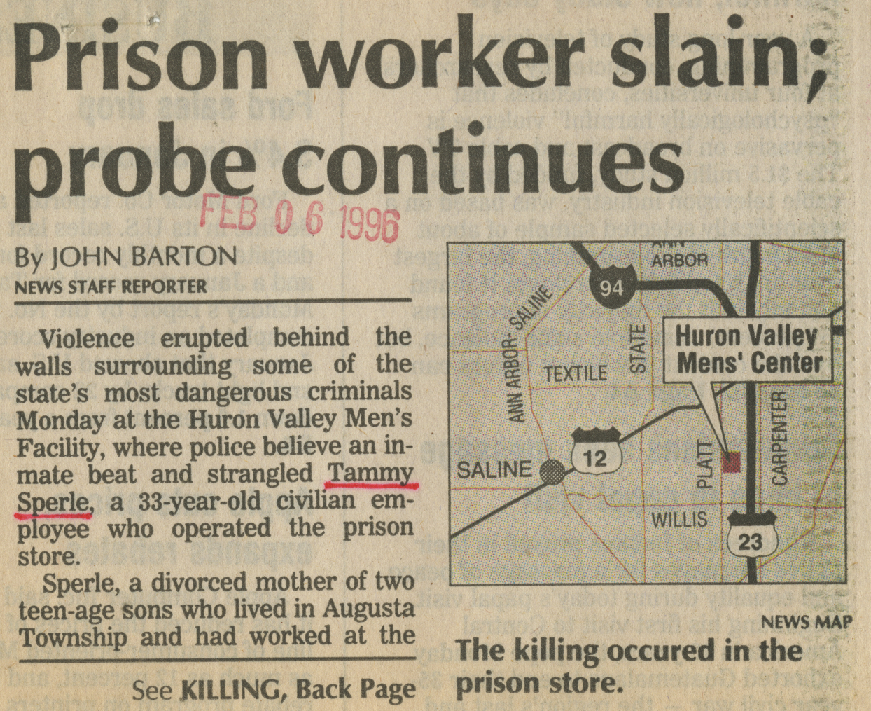 Prison worker slain; probe continues image