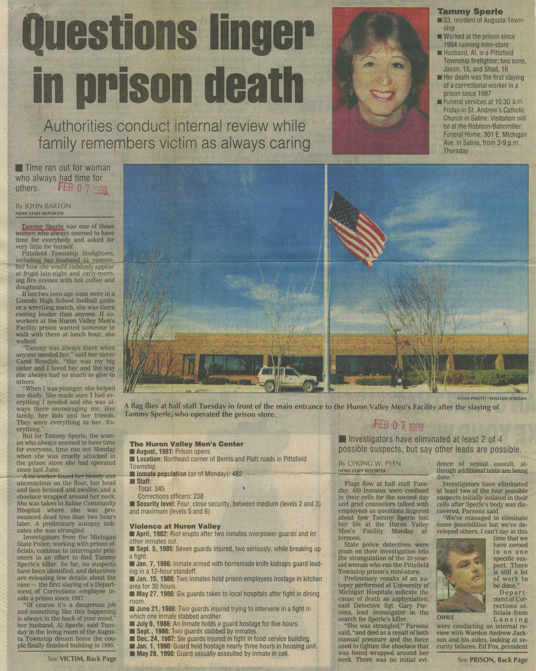 Questions linger in prison death image