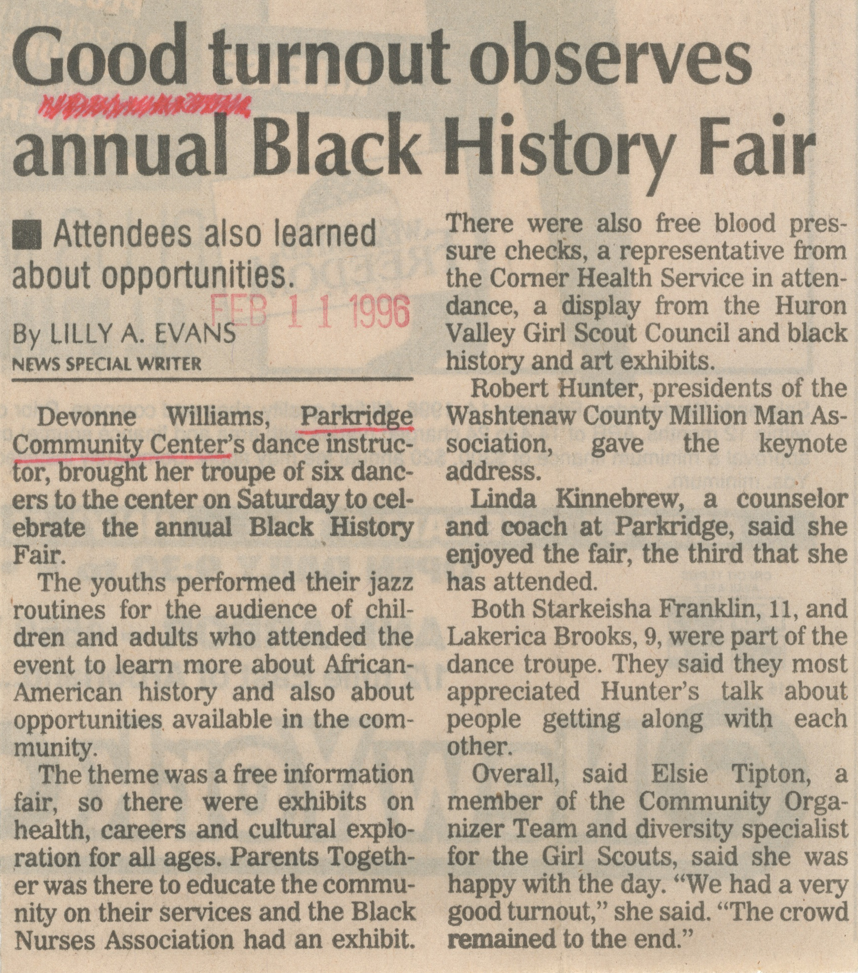 Good Turnout Observes Annual Black History Fair image