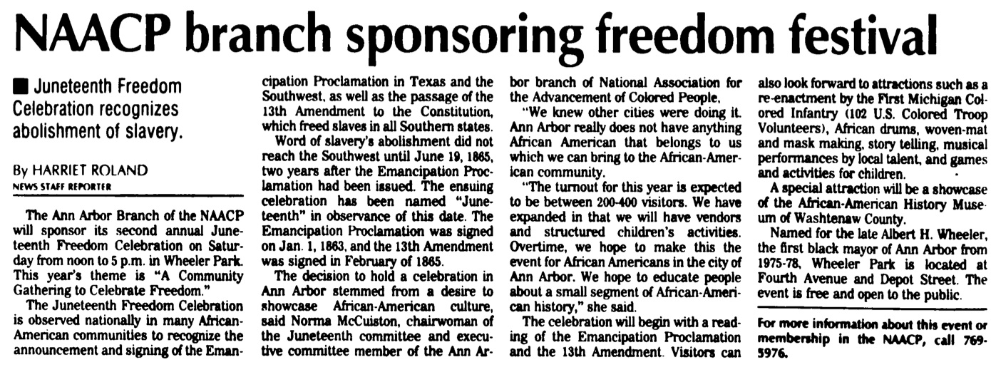 NAACP Branch Sponsoring Freedom Festival image