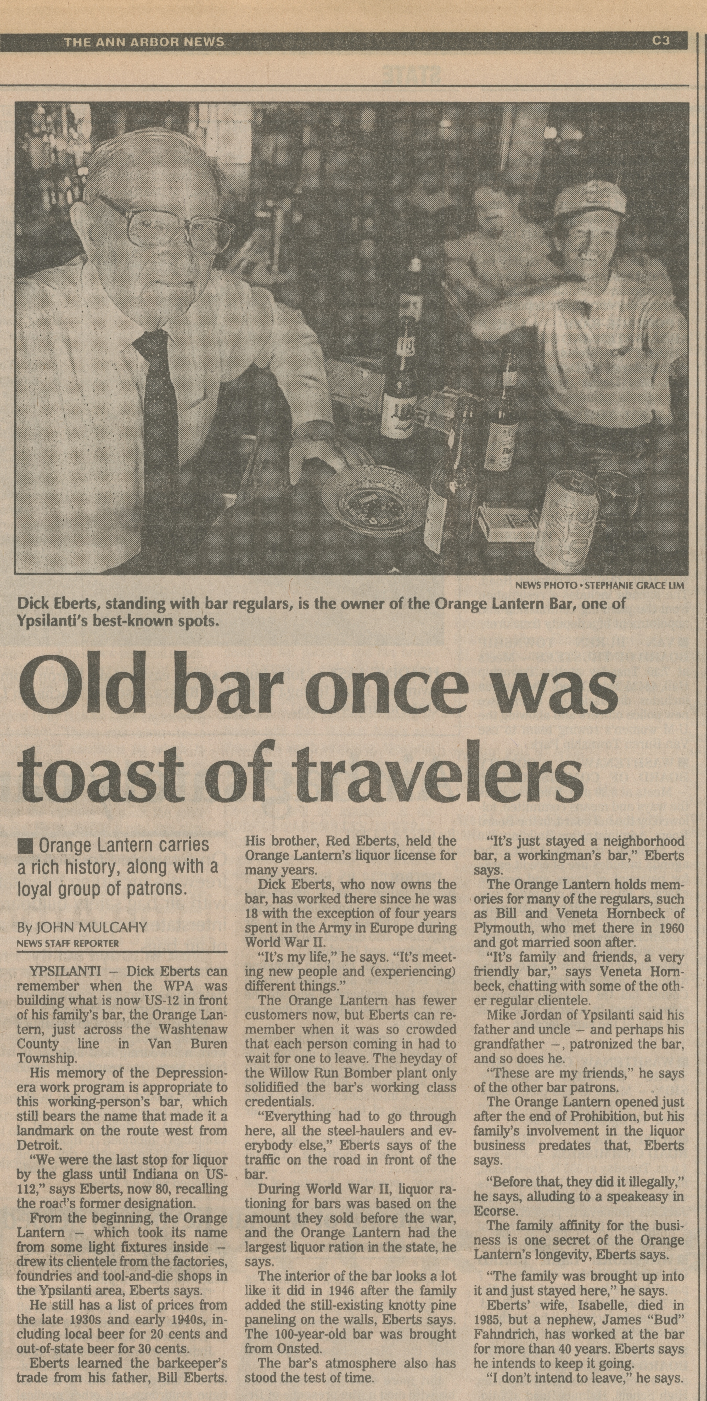 Old Bar Once Was Toast of Travelers image