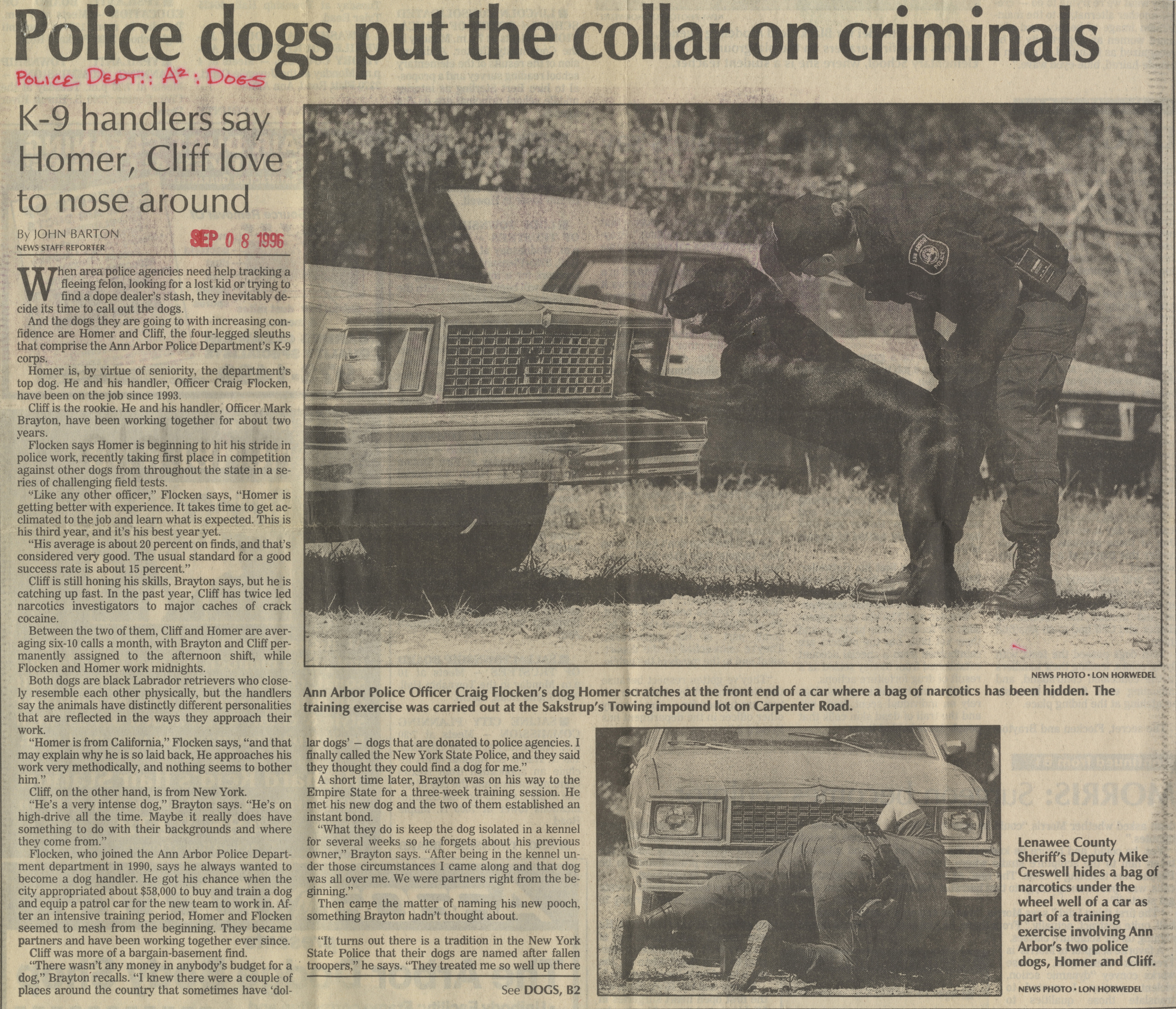 Police Dogs Put The Collar On Criminals image