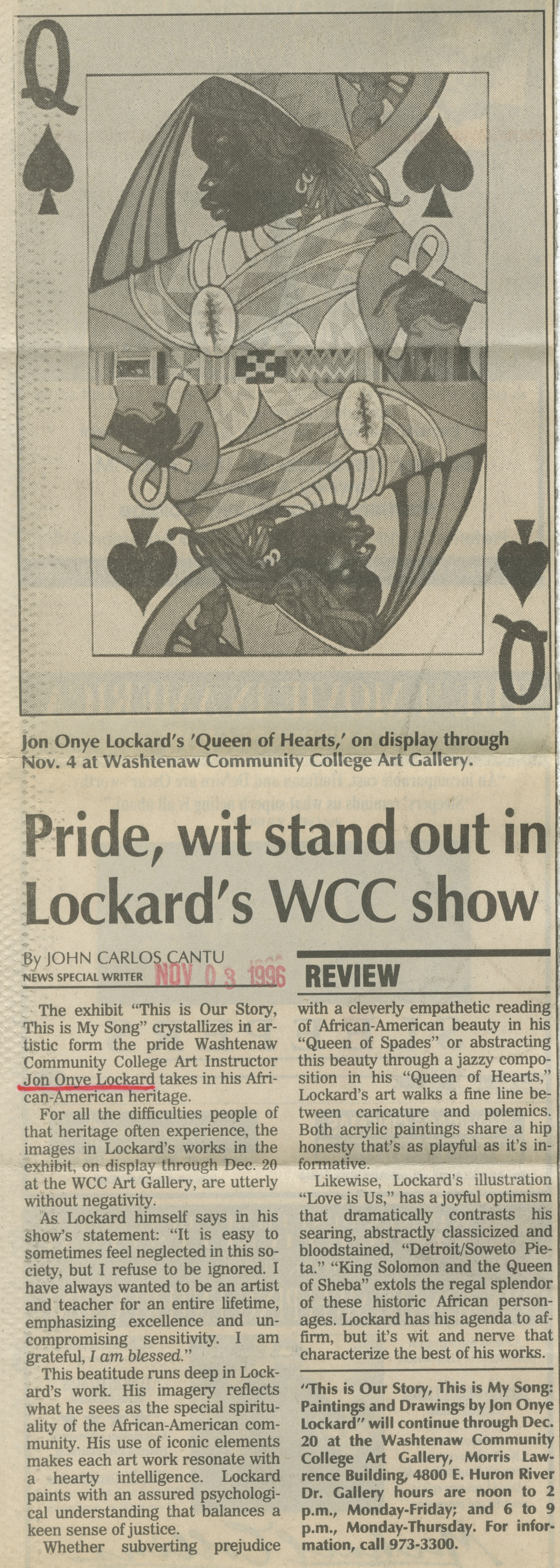 Pride, wit stand out in Lockard's WCC show image