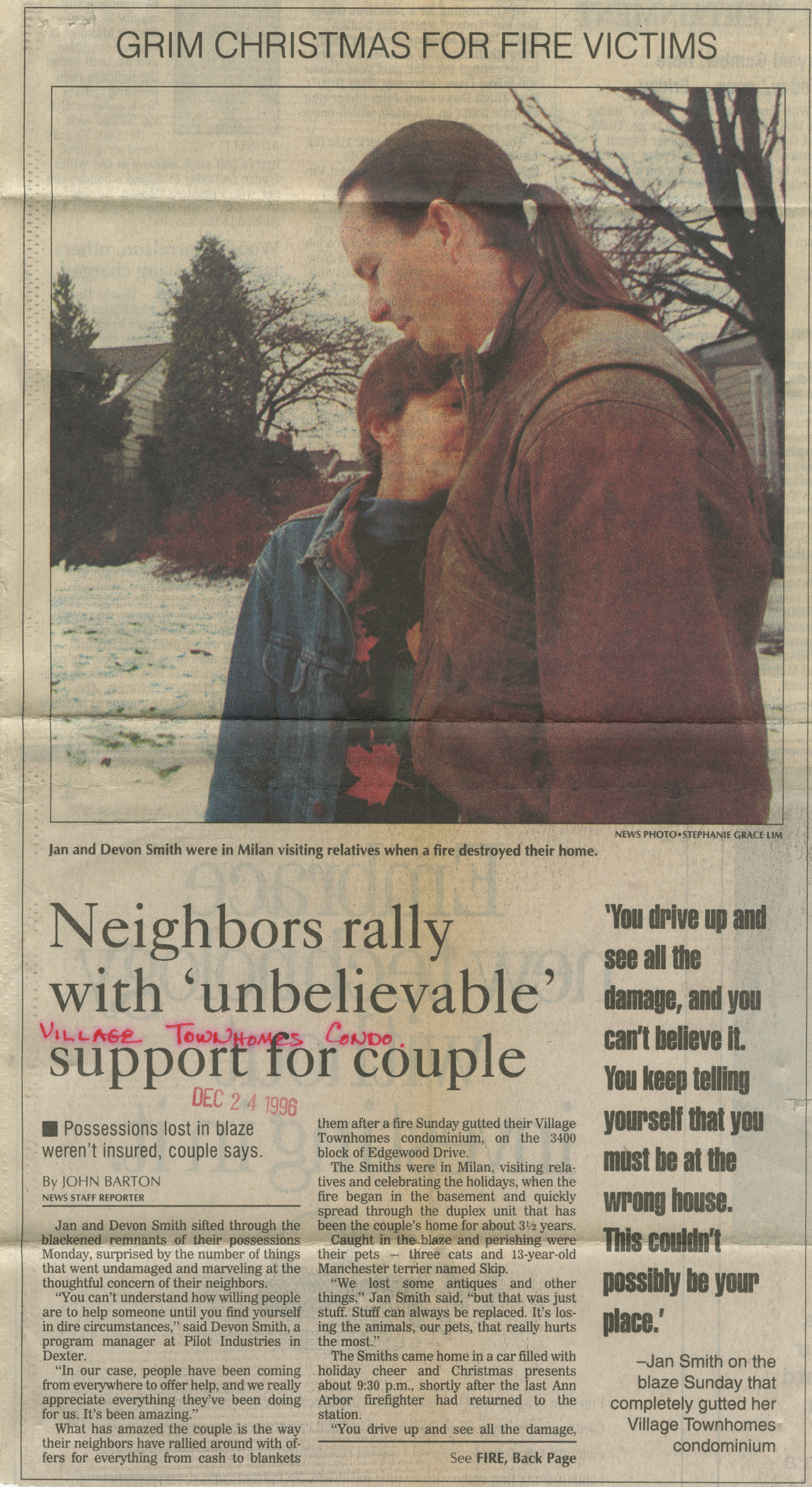 Neighbors rally with 'unbelievable' support for couple image