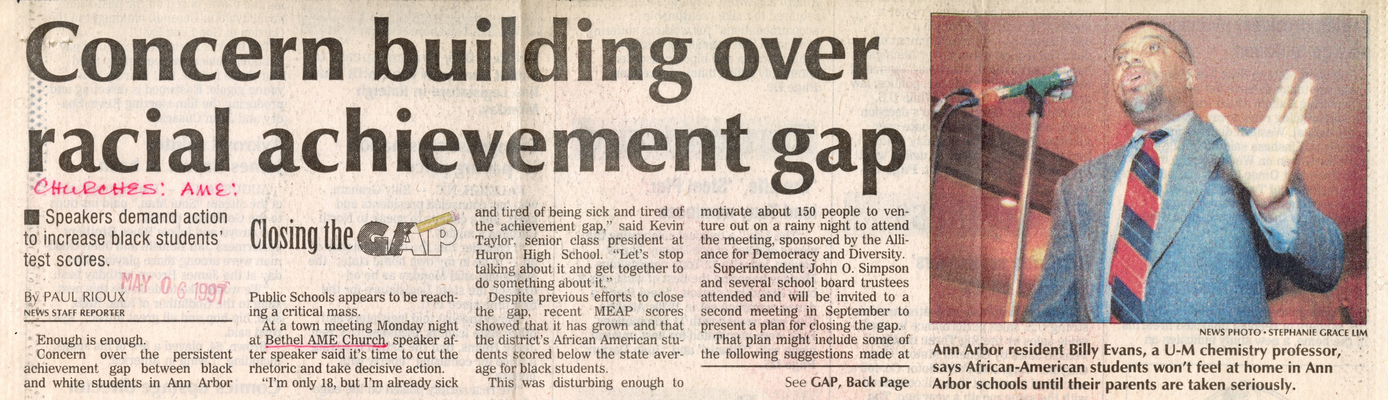 Concern building over racial achievement gap image
