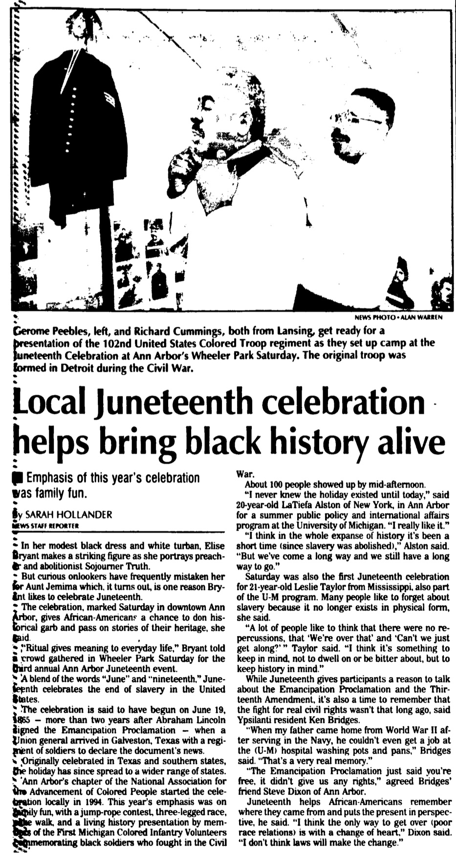 Local Juneteenth Celebration Helps Bring Black History Alive image