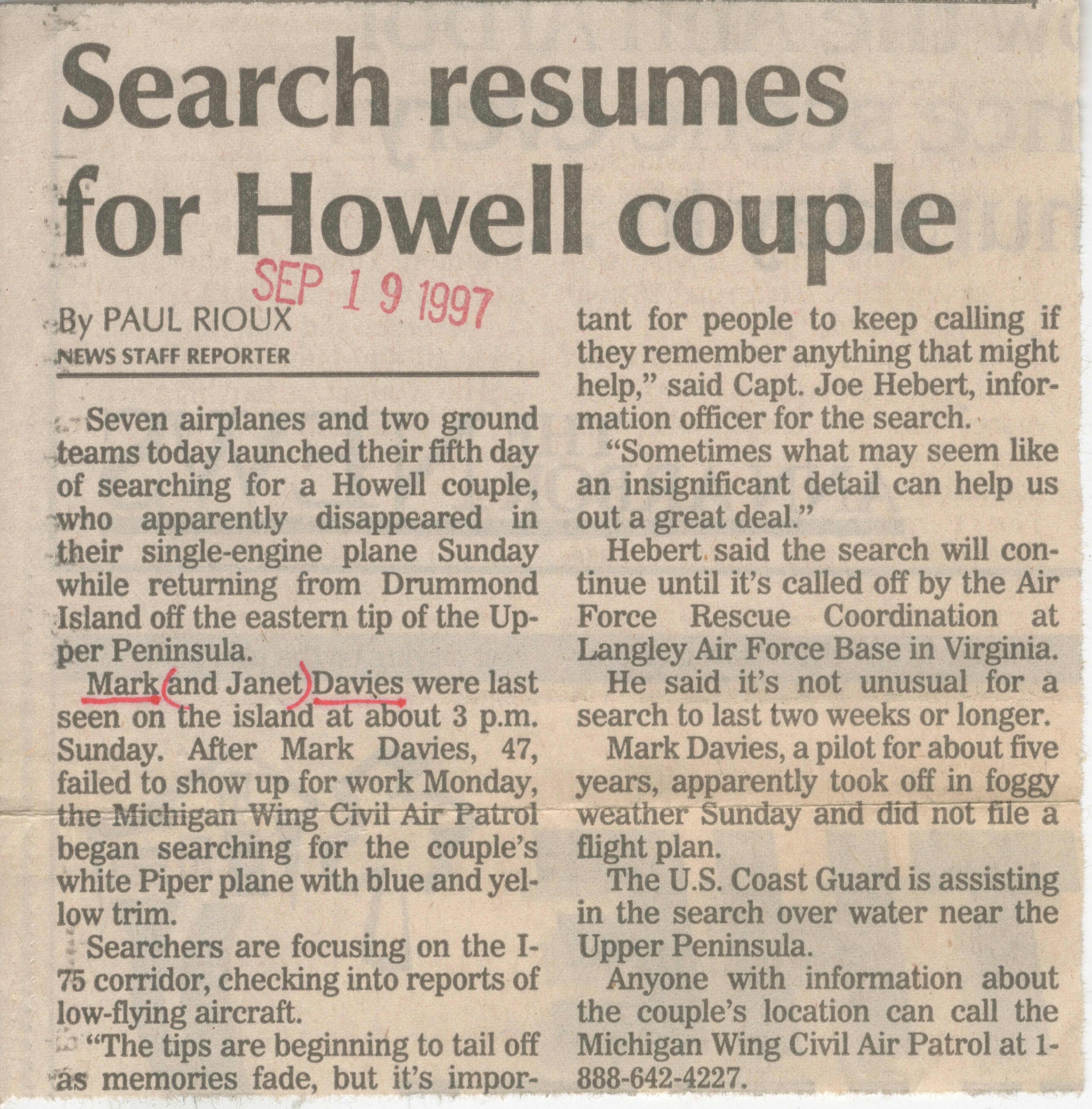 Search Resumes for Howell Couple image