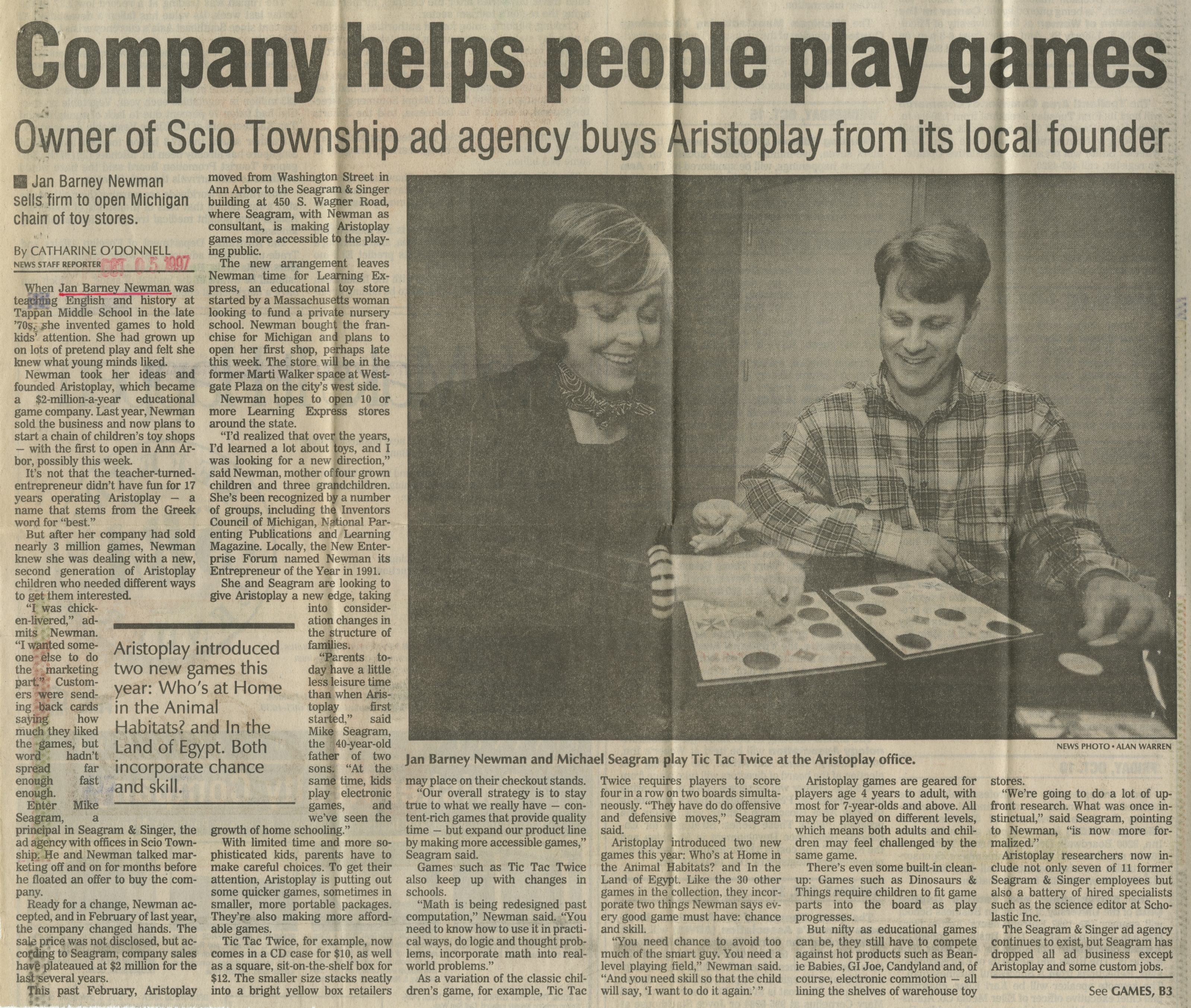 Company helps people play games image