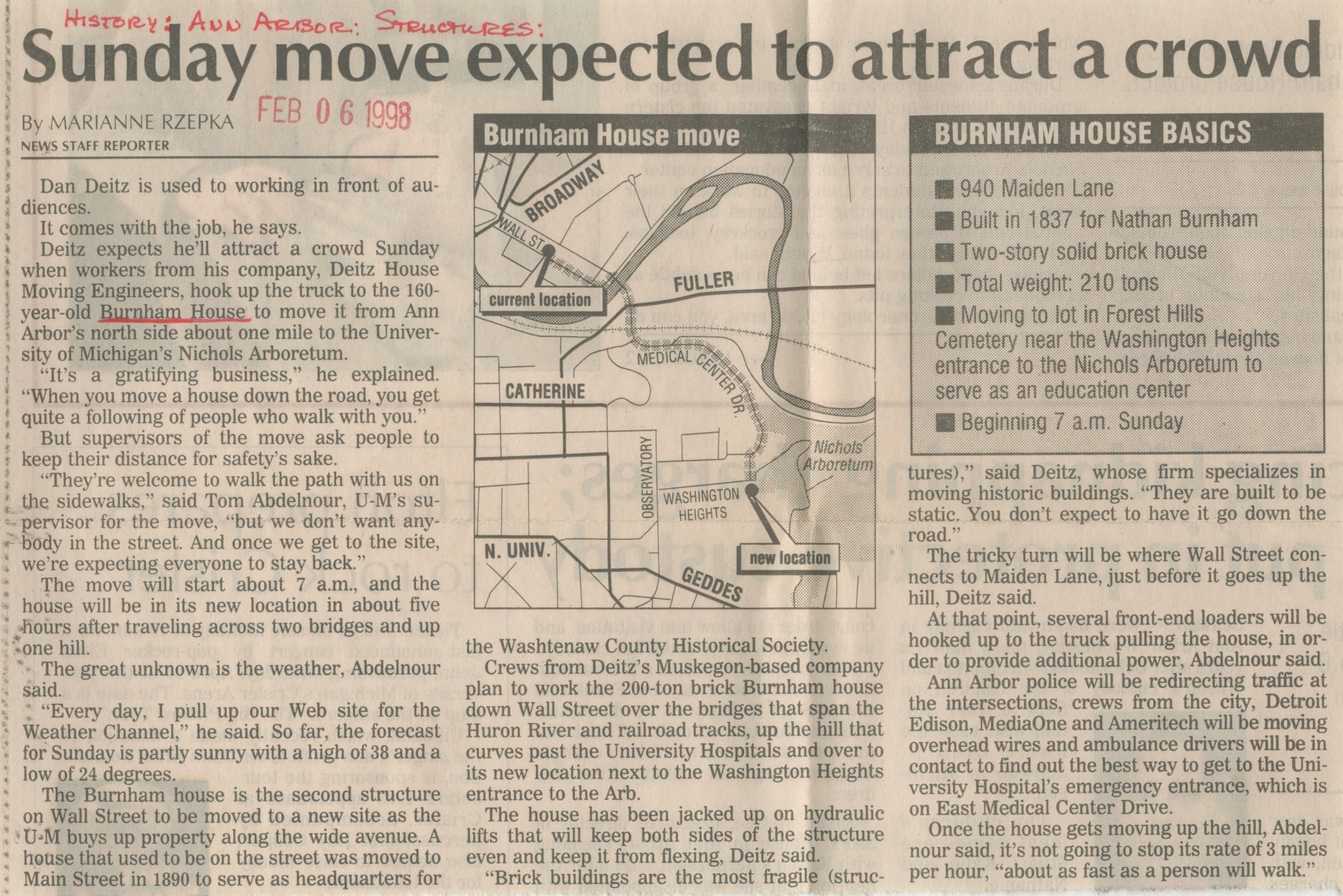 Sunday move expected to attract a crowd image