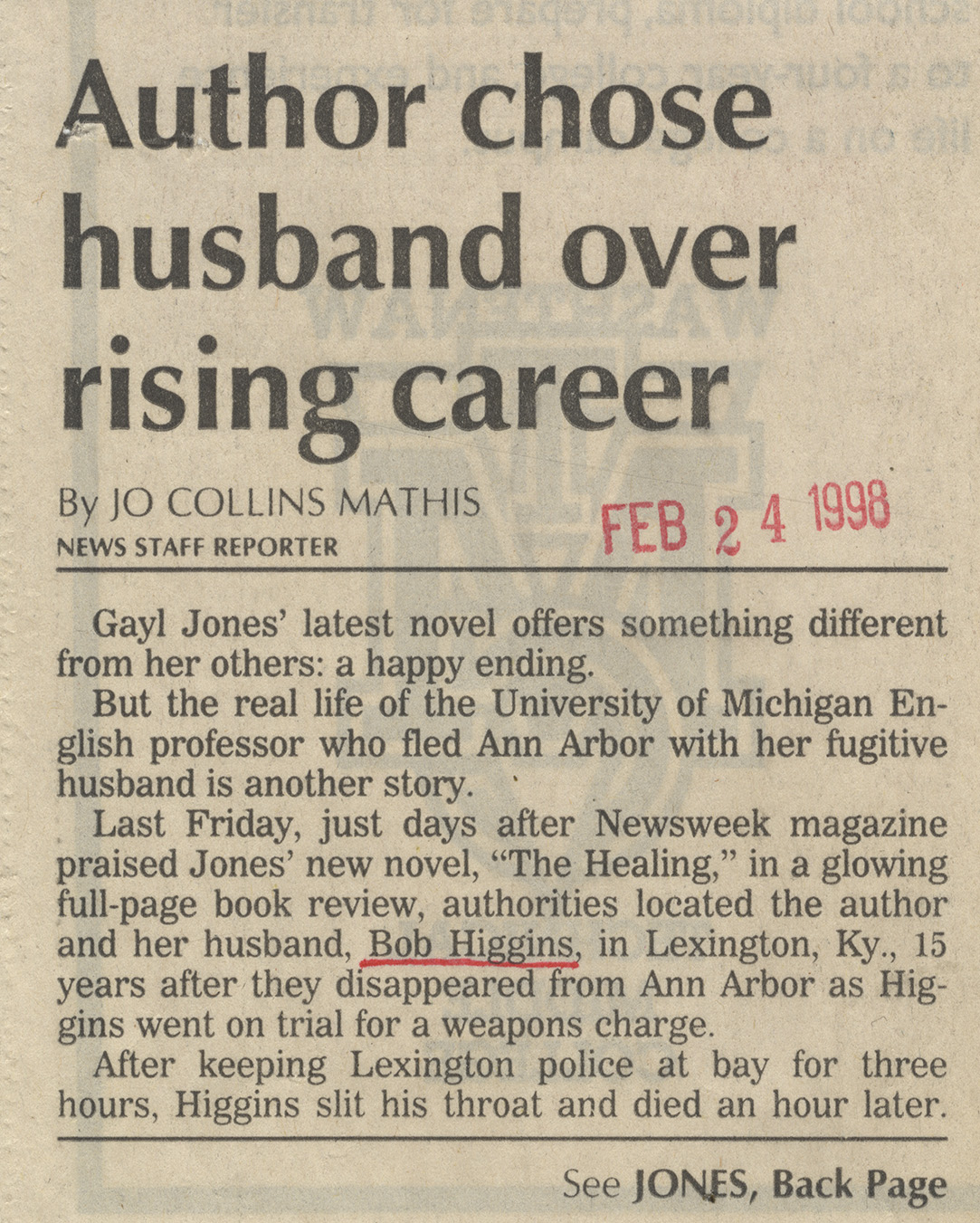 Author Chose Husband Over Rising Career image