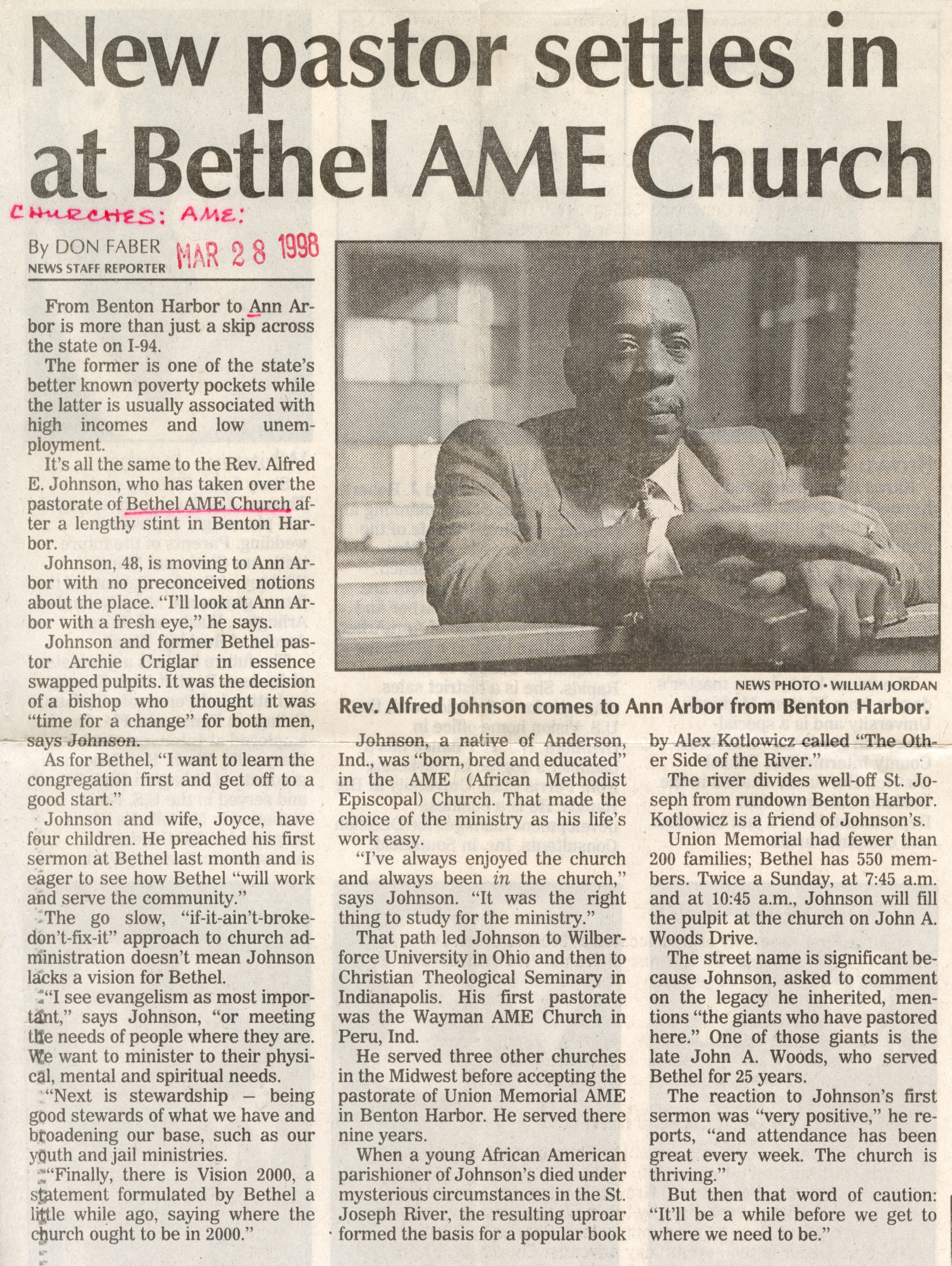 New pastor settles in at Bethel AME Church image