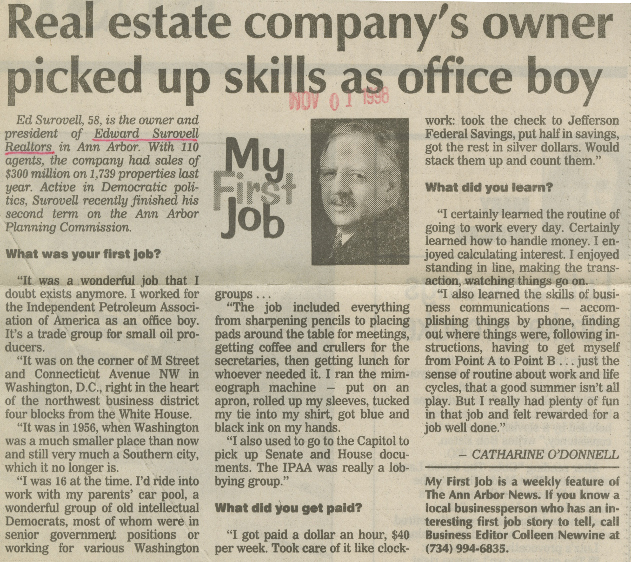 Real Estate Company's Owner Picked Up Skills As Office Boy image