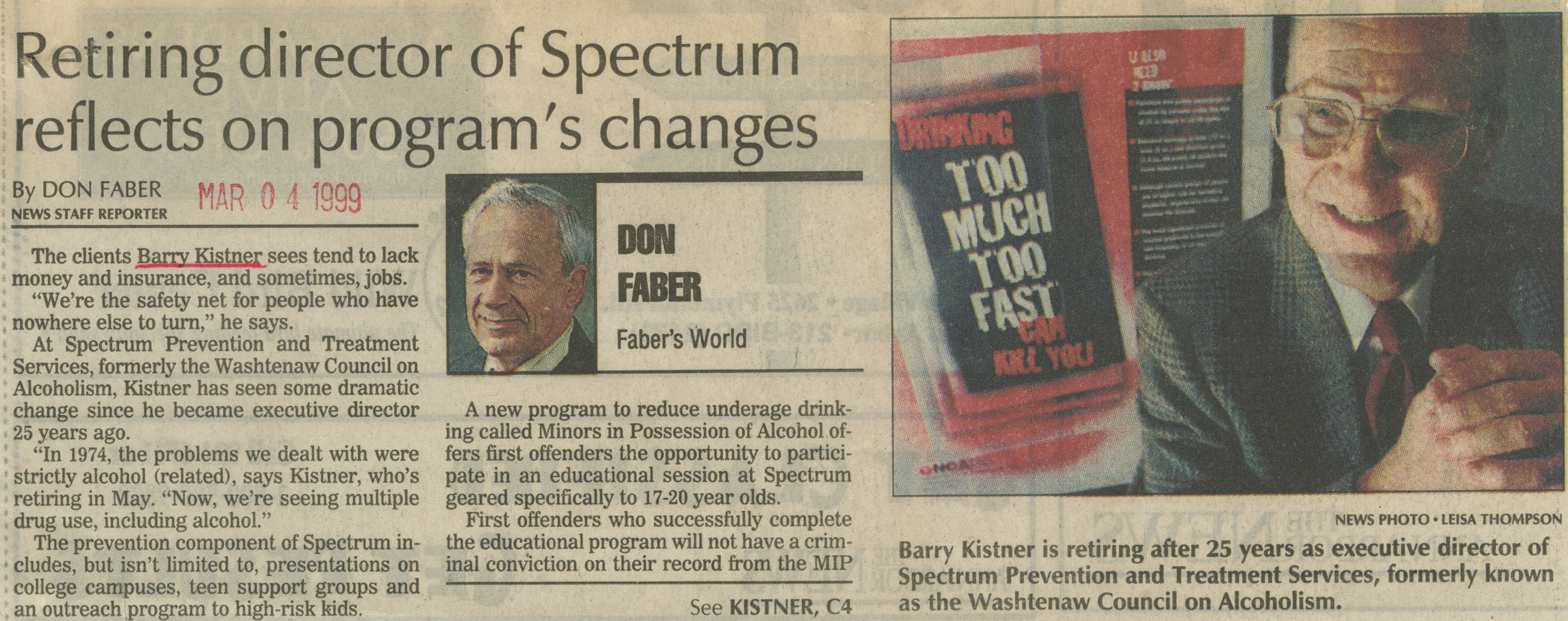 Retiring director of Spectrum reflects on program's changes image