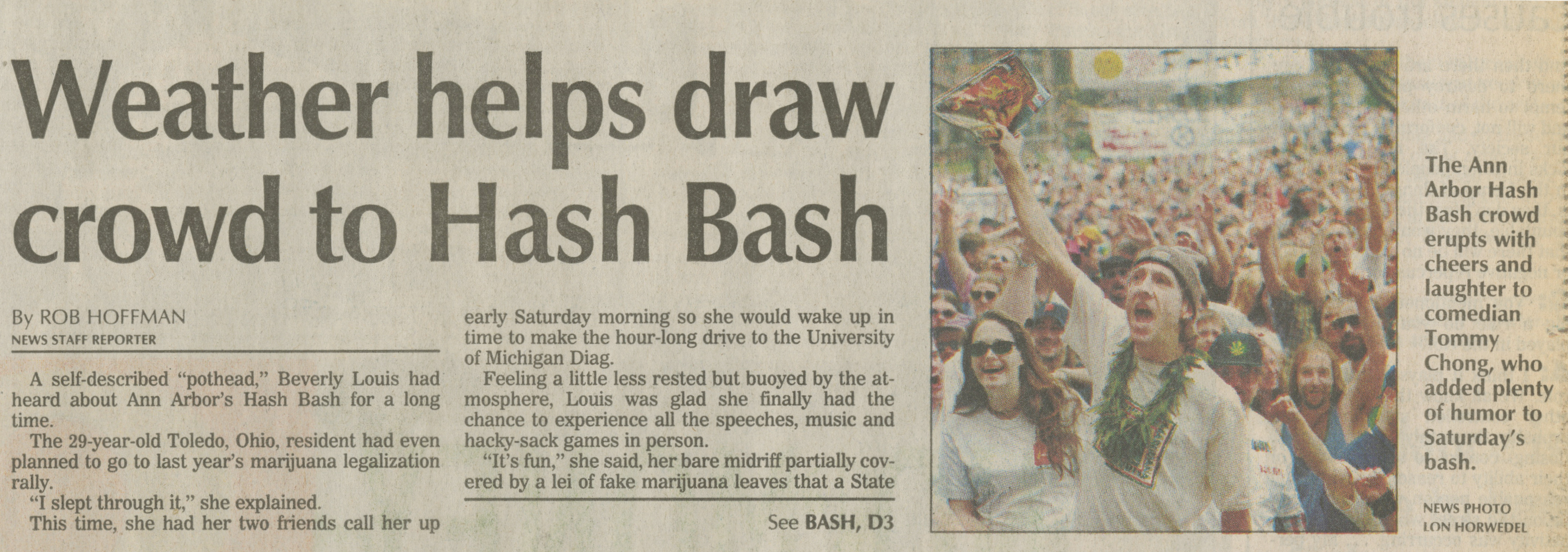 Weather Helps Draw Crowd To Hash Bash image