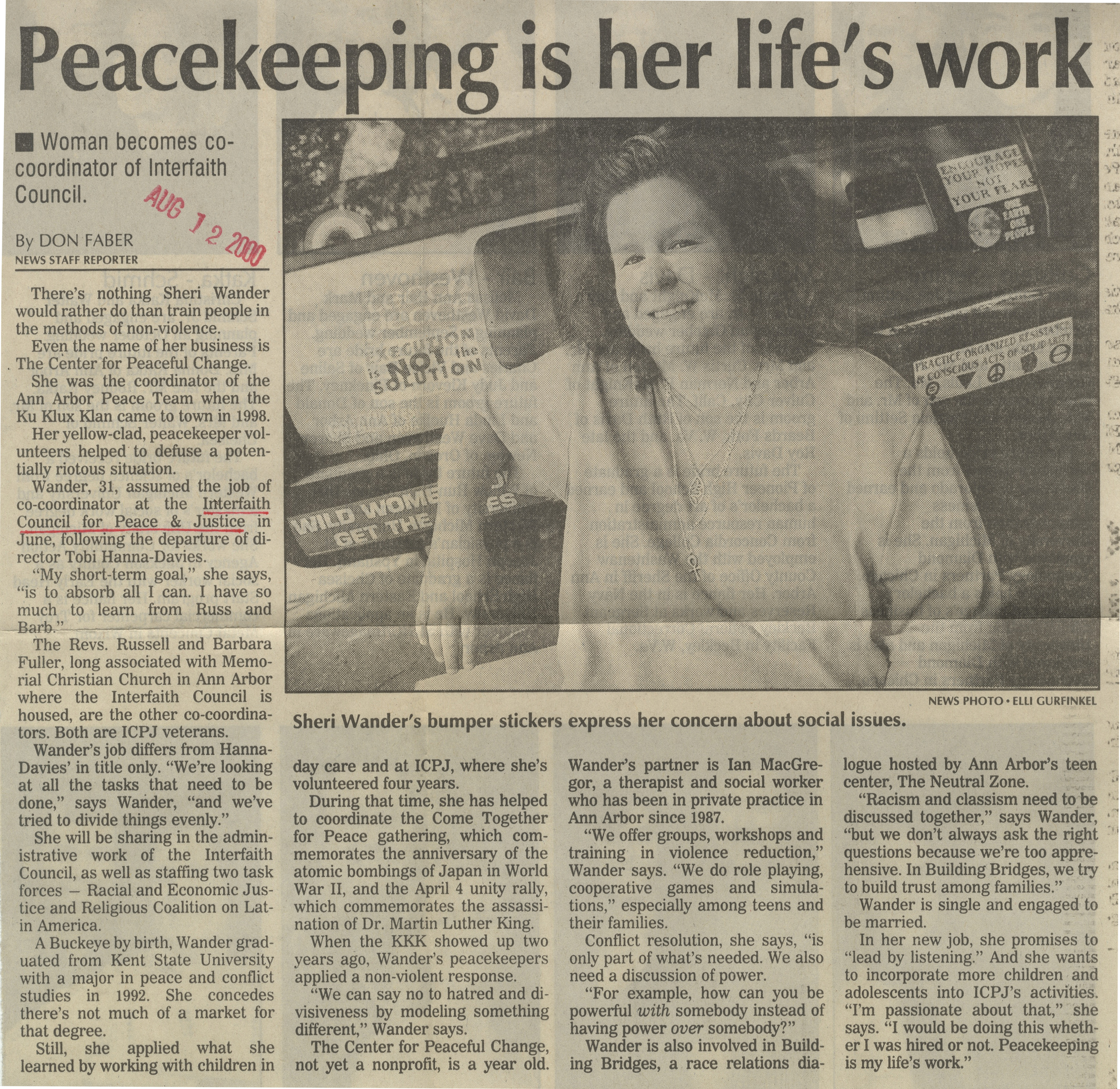 Peacekeeping Is Her Life's Work image