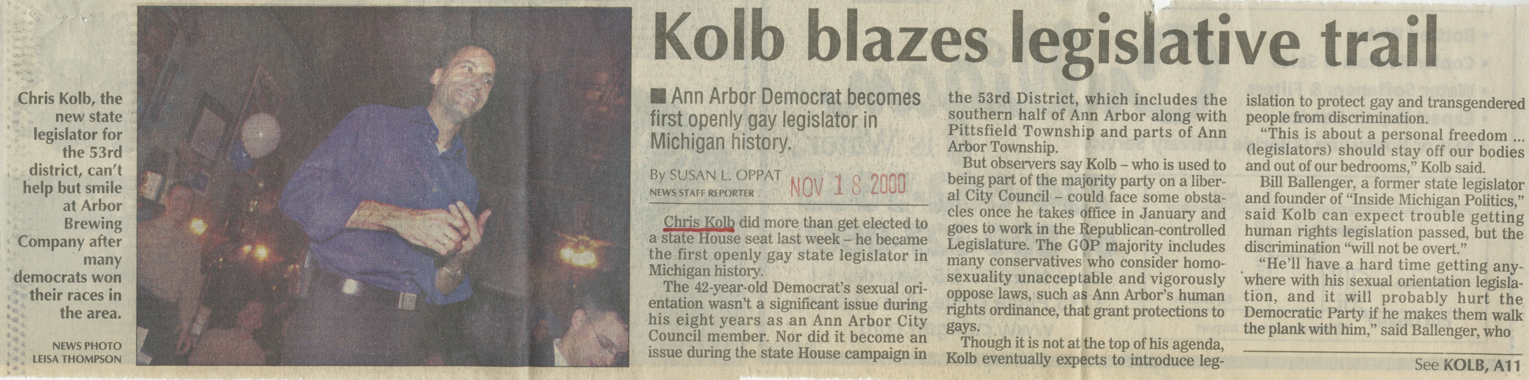 Kolb Blazes Legislative Trail image