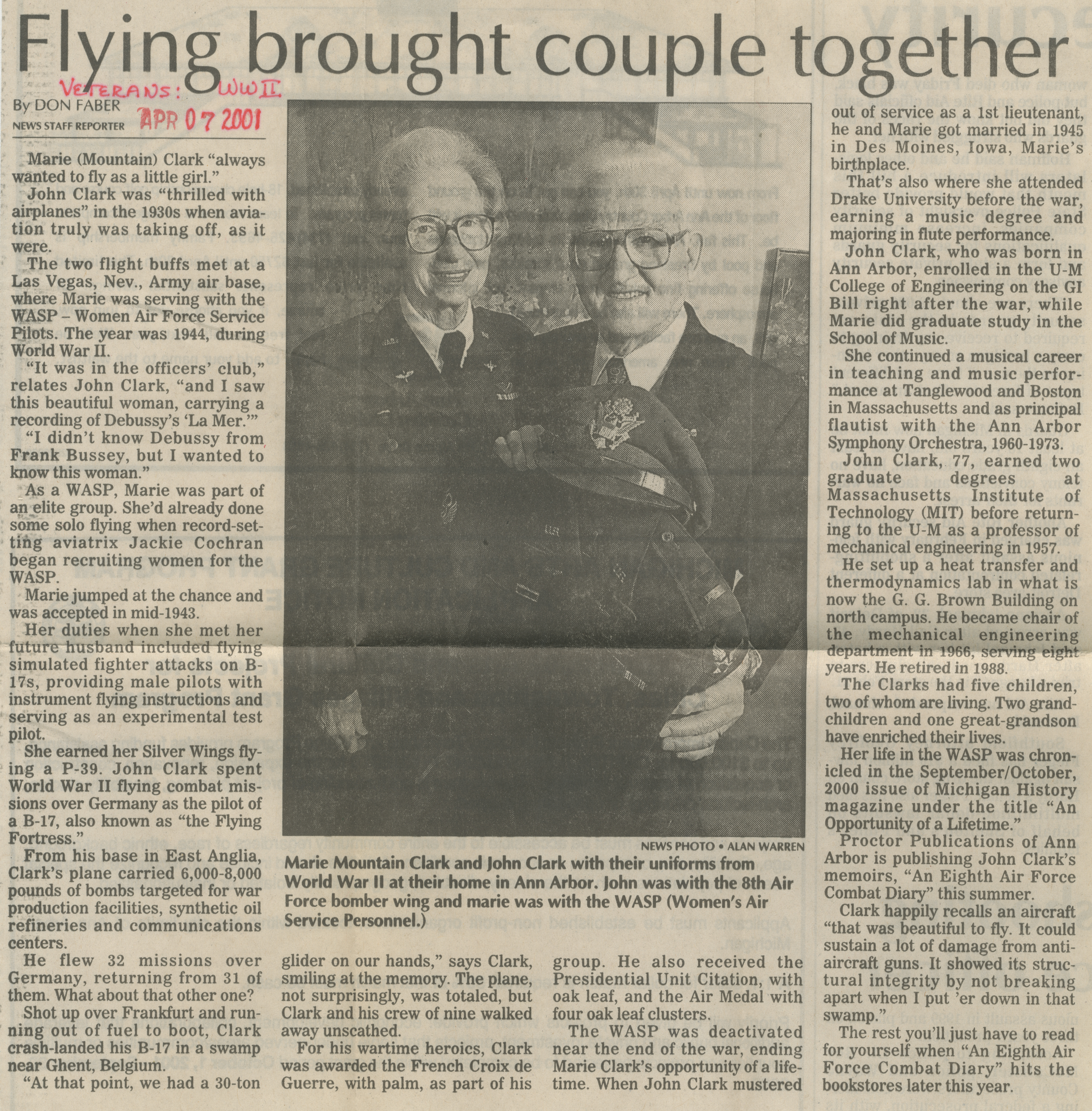 Flying brought couple together image