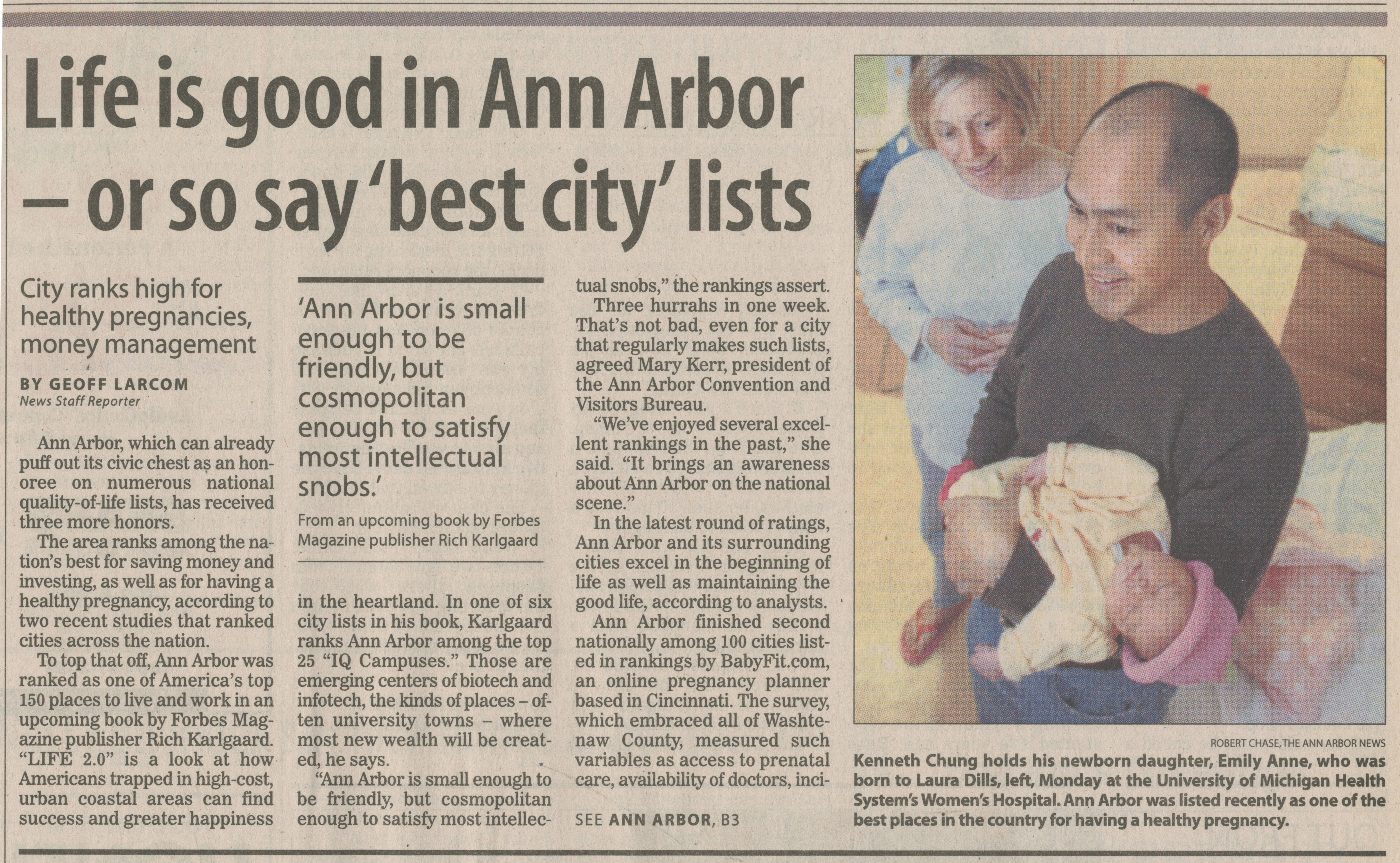 Life is good in Ann Arbor - or so say 'best city' lists image