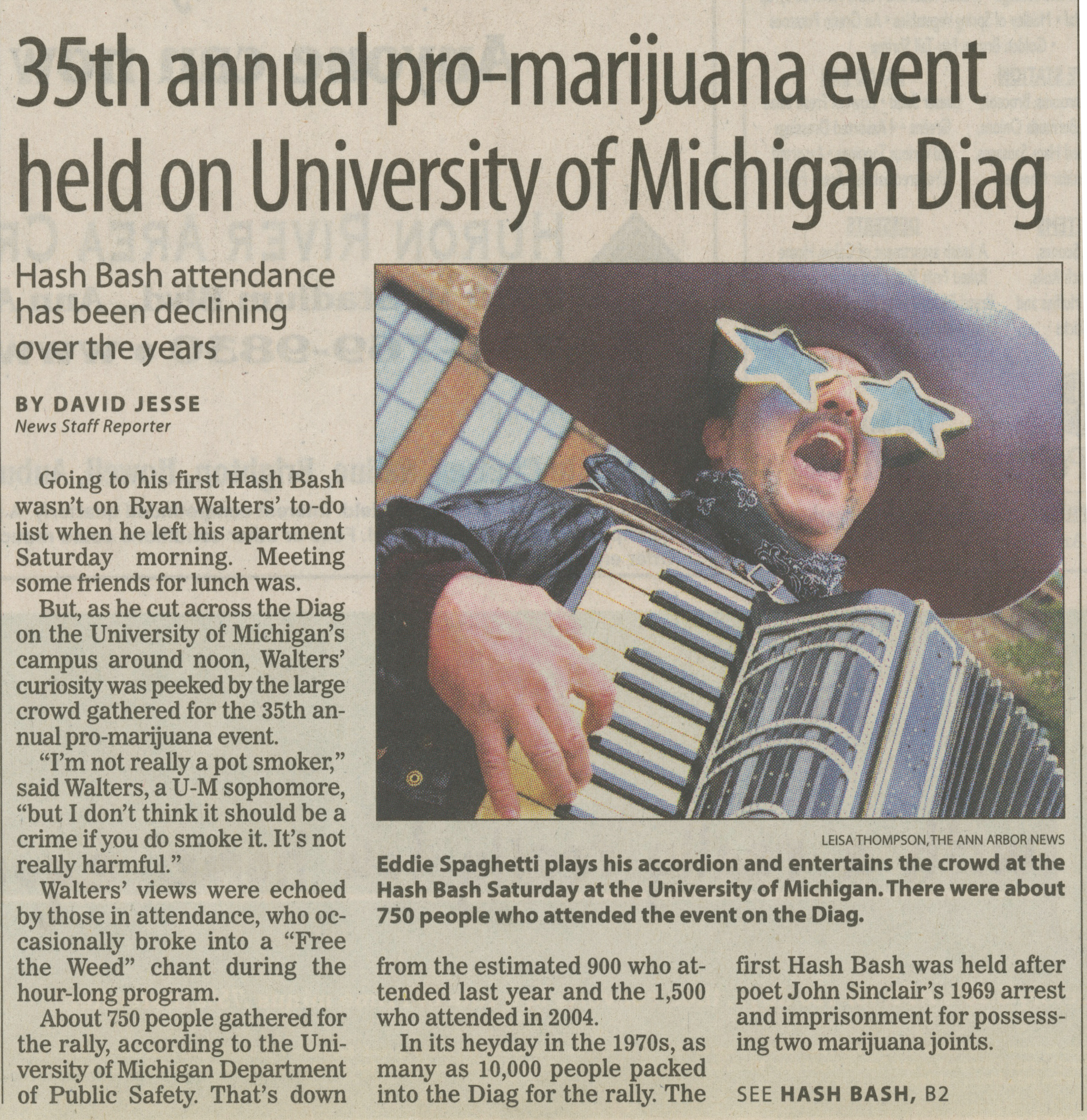 35th Annual Pro-Marijuana Event Held On University Of Michigan Diag image