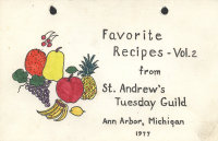 Favorite Recipes - Vol. 2 from St. Andrew's Tuesday Guild image