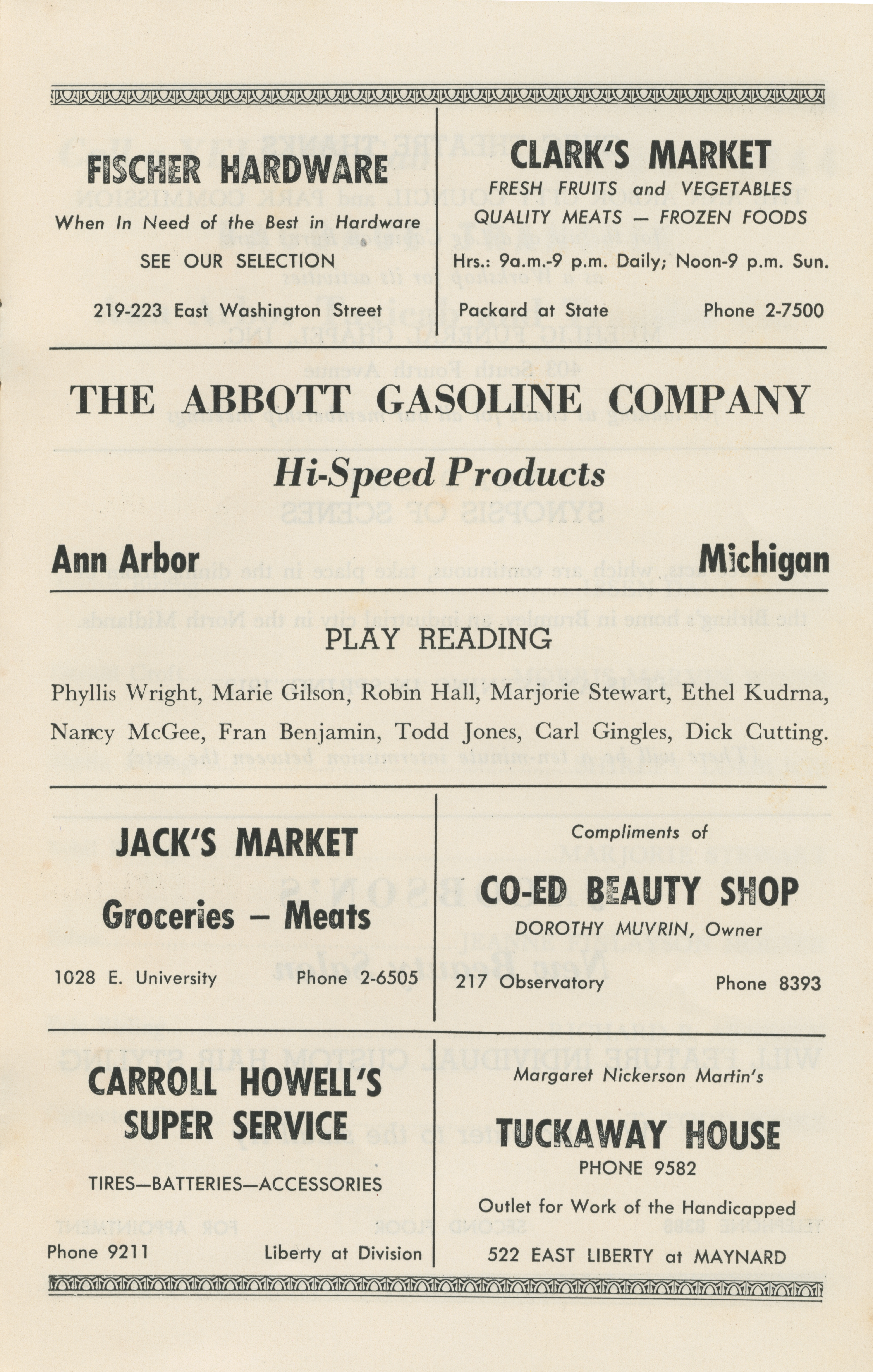 Ann Arbor Civic Theatre Program: An Inspector Calls, October 11, 1949 image