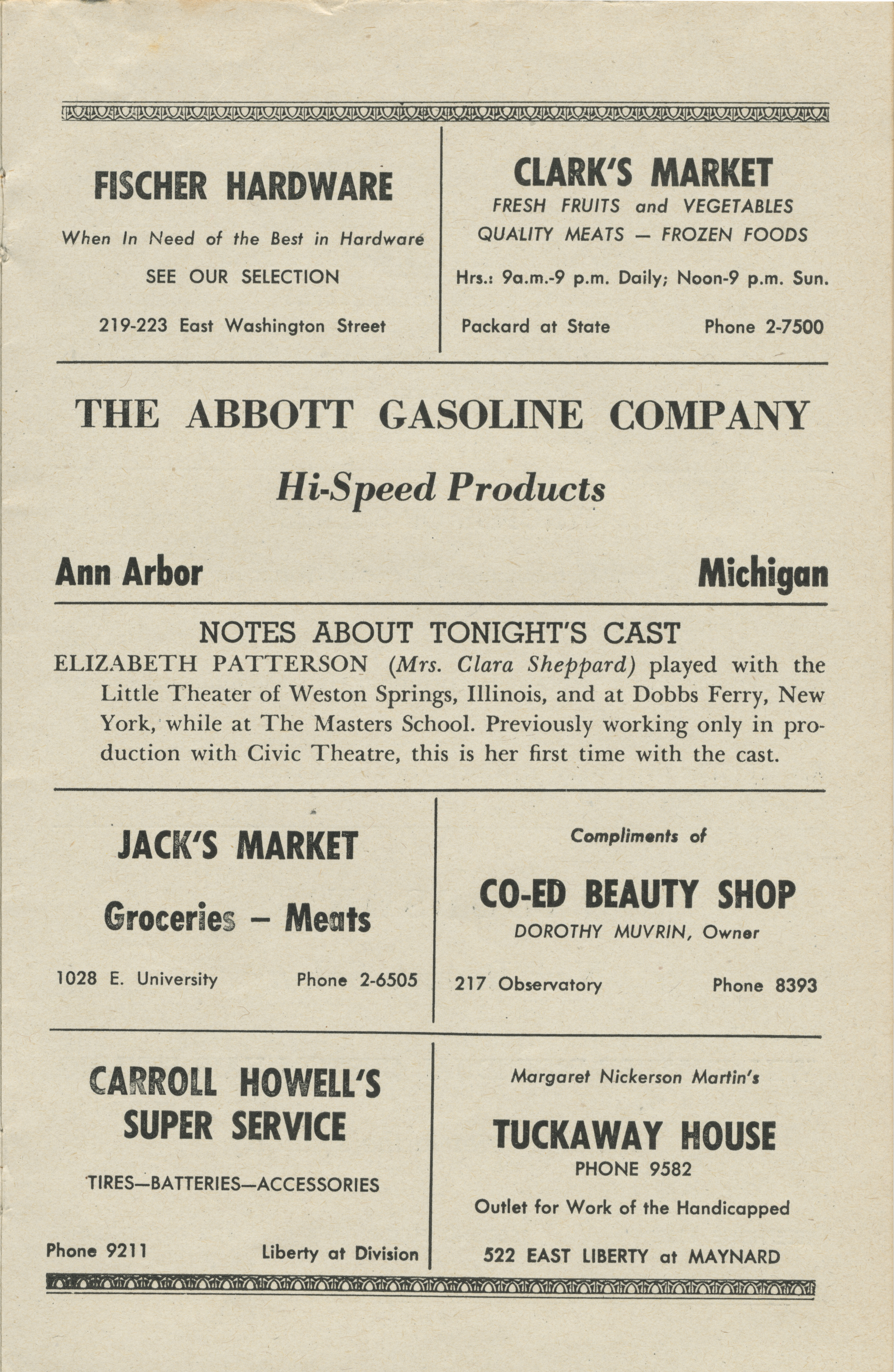 Ann Arbor Civic Theatre Program: Torchbearers, January 24, 1950 image
