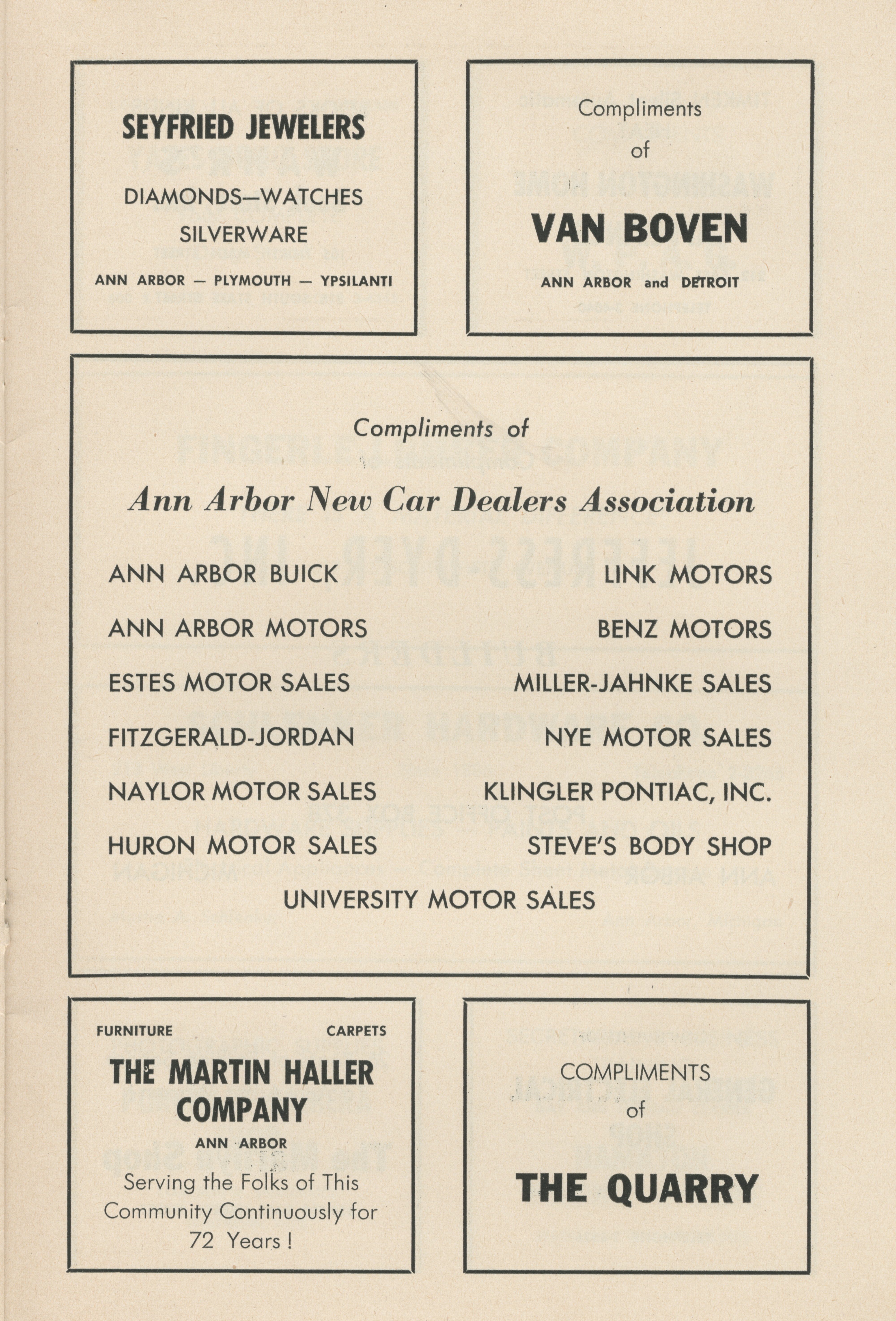 Ann Arbor Civic Theatre Program: Three Men on a Horse, October 15, 1953 image