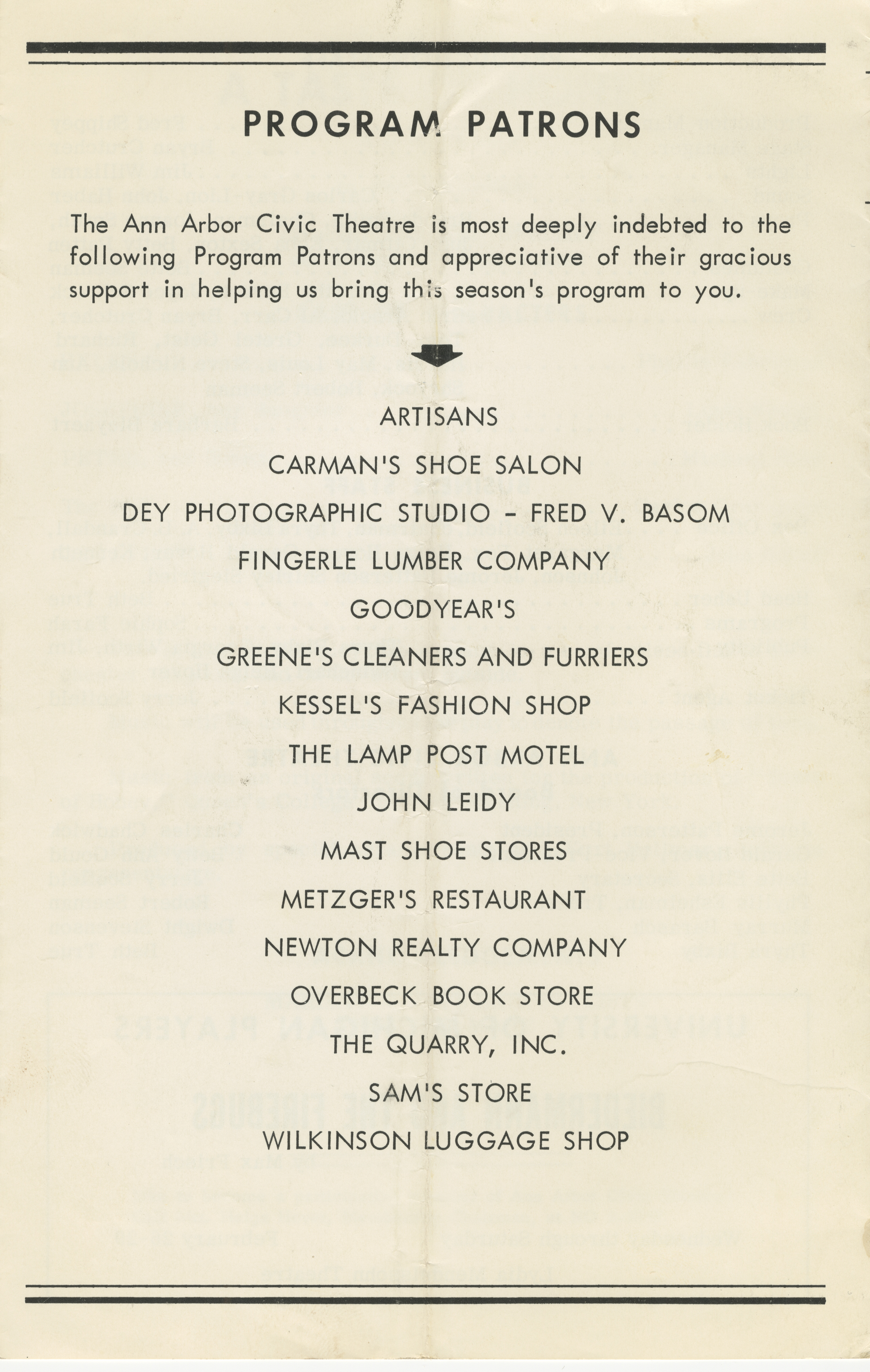 Ann Arbor Civic Theatre Program: A Tast Of Honey, January 30, 1964 image