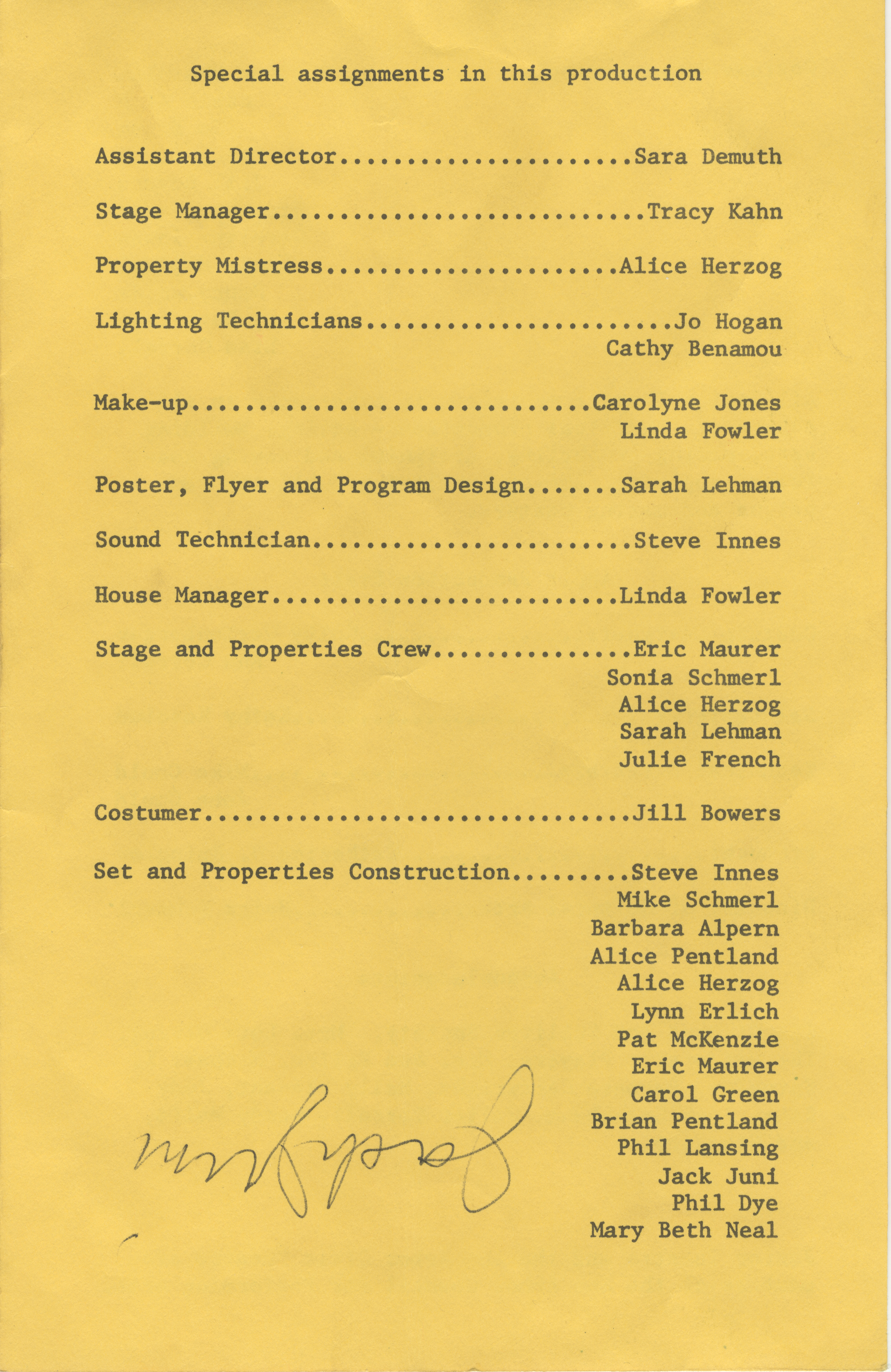 Ann Arbor Civic Theatre Program: Thwarting of Baron Bolligrew, November 26, 1971 image