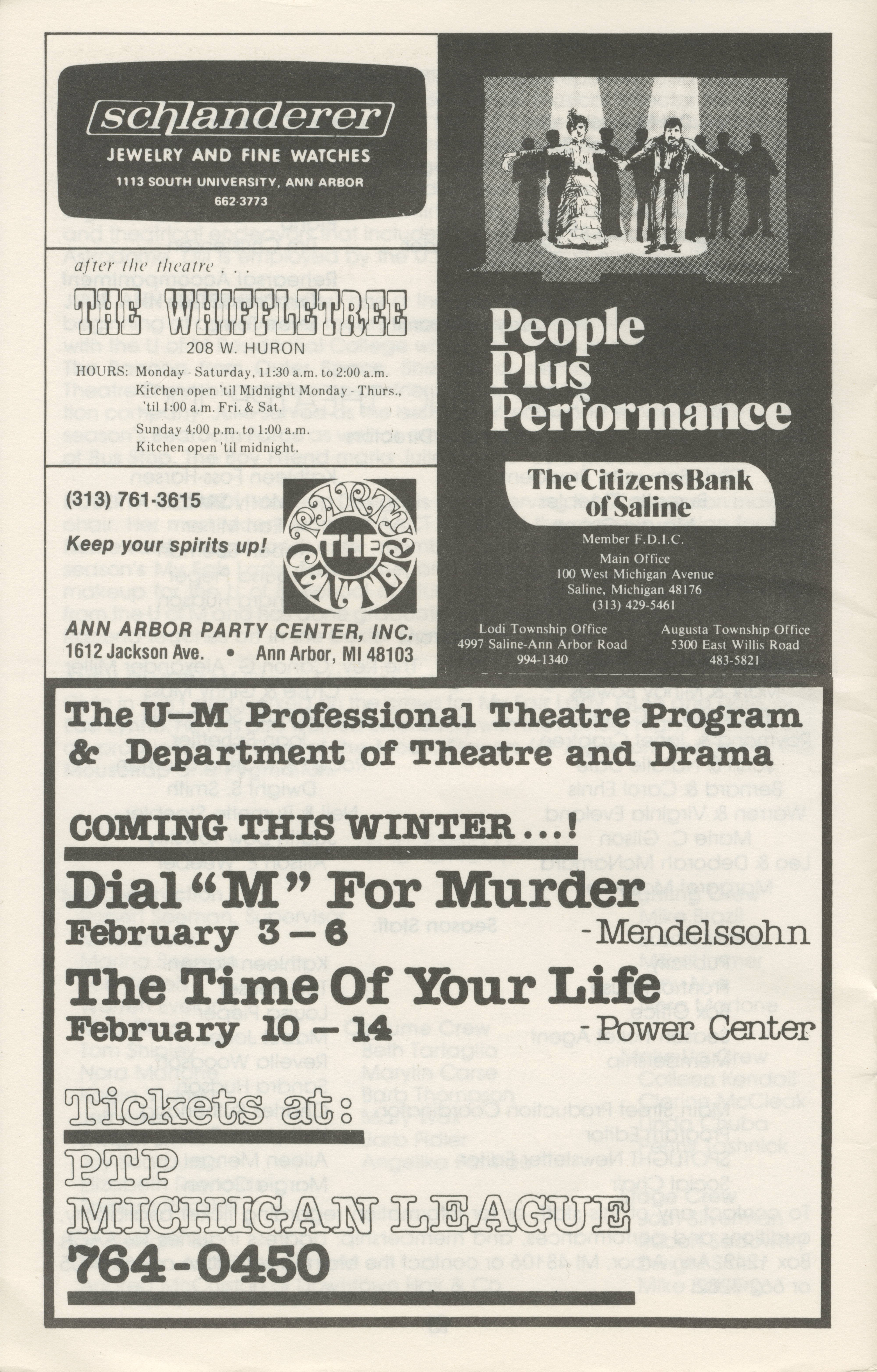 Ann Arbor Civic Theatre Program: The Boy Friend, December 16, 1981 image