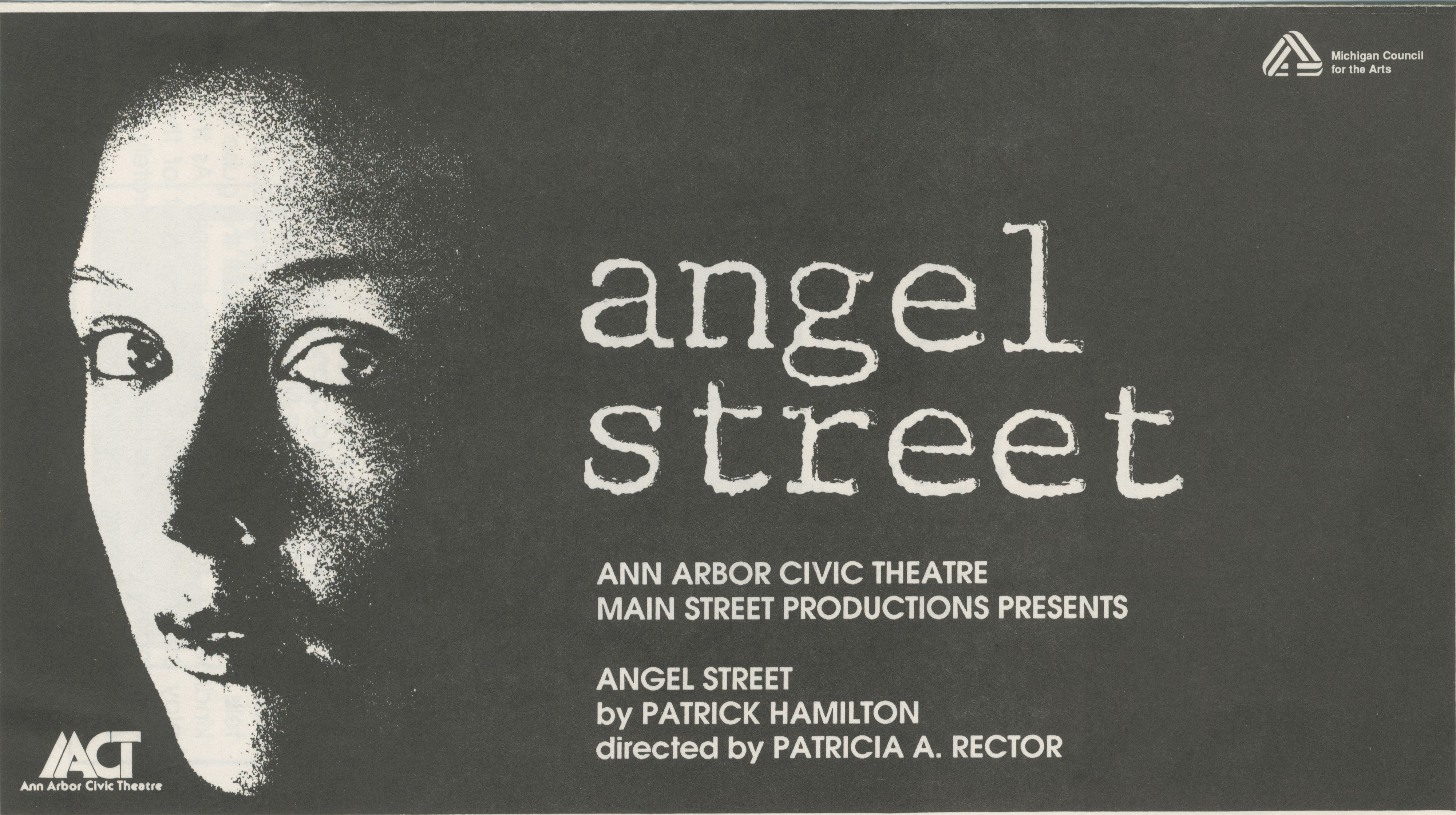 Ann Arbor Civic Theatre Program: Angel Street, September 24, 1987 image