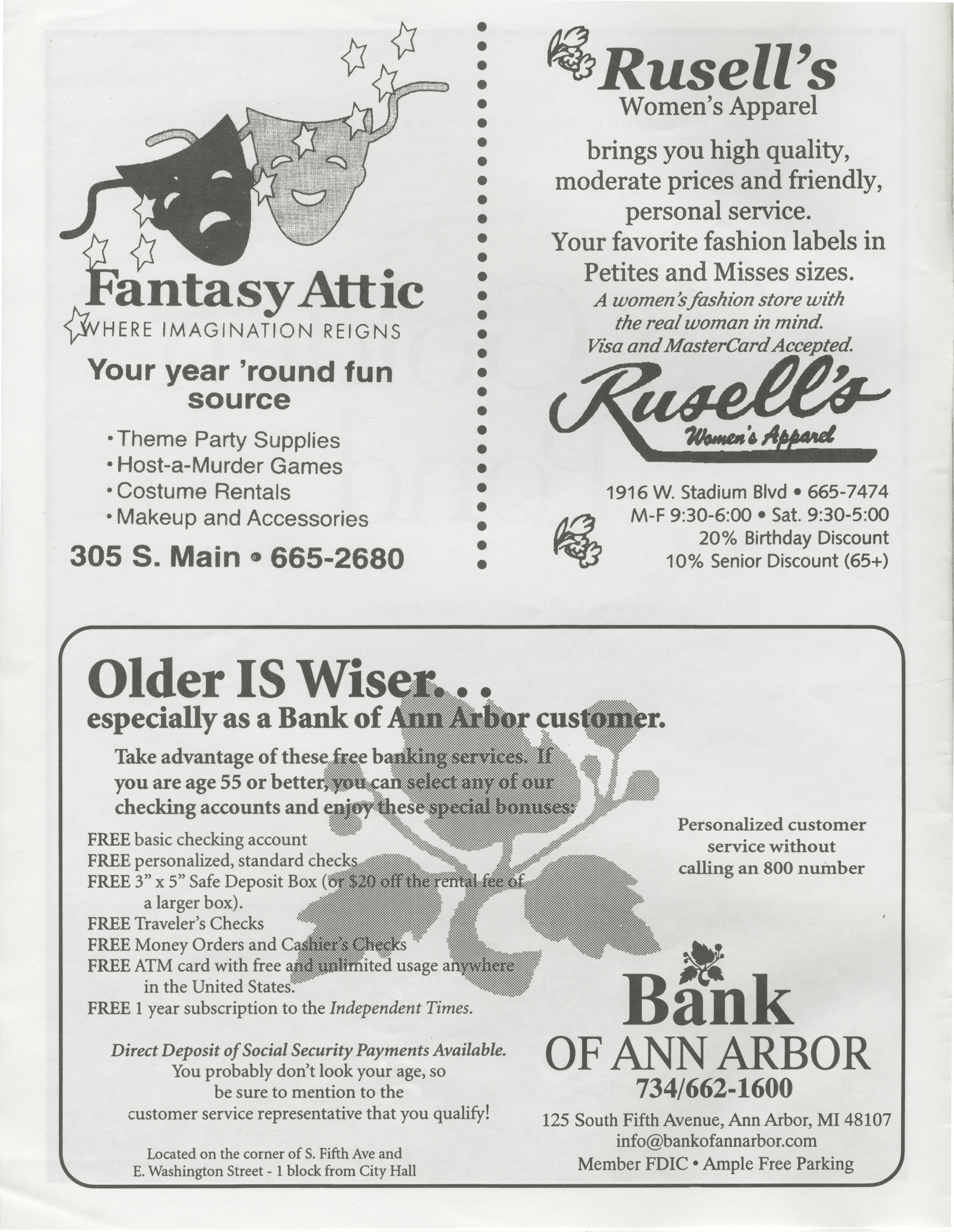 Ann Arbor Civic Theatre Program On Golden Pond September 24 1998 Ann Arbor District Library