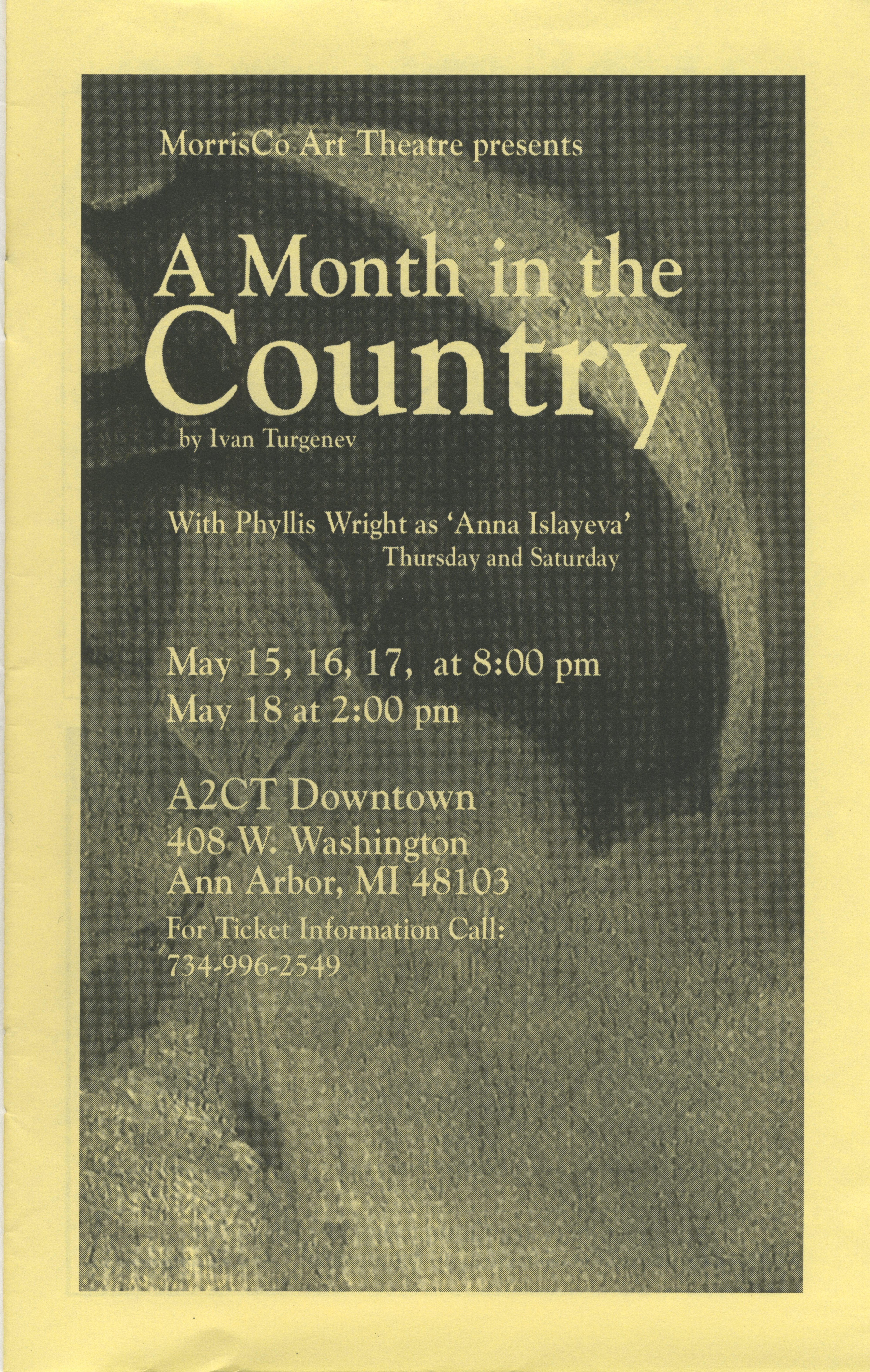 Ann Arbor Civic Theatre Program: The Girls of the Garden Club, May 01, 2003 image