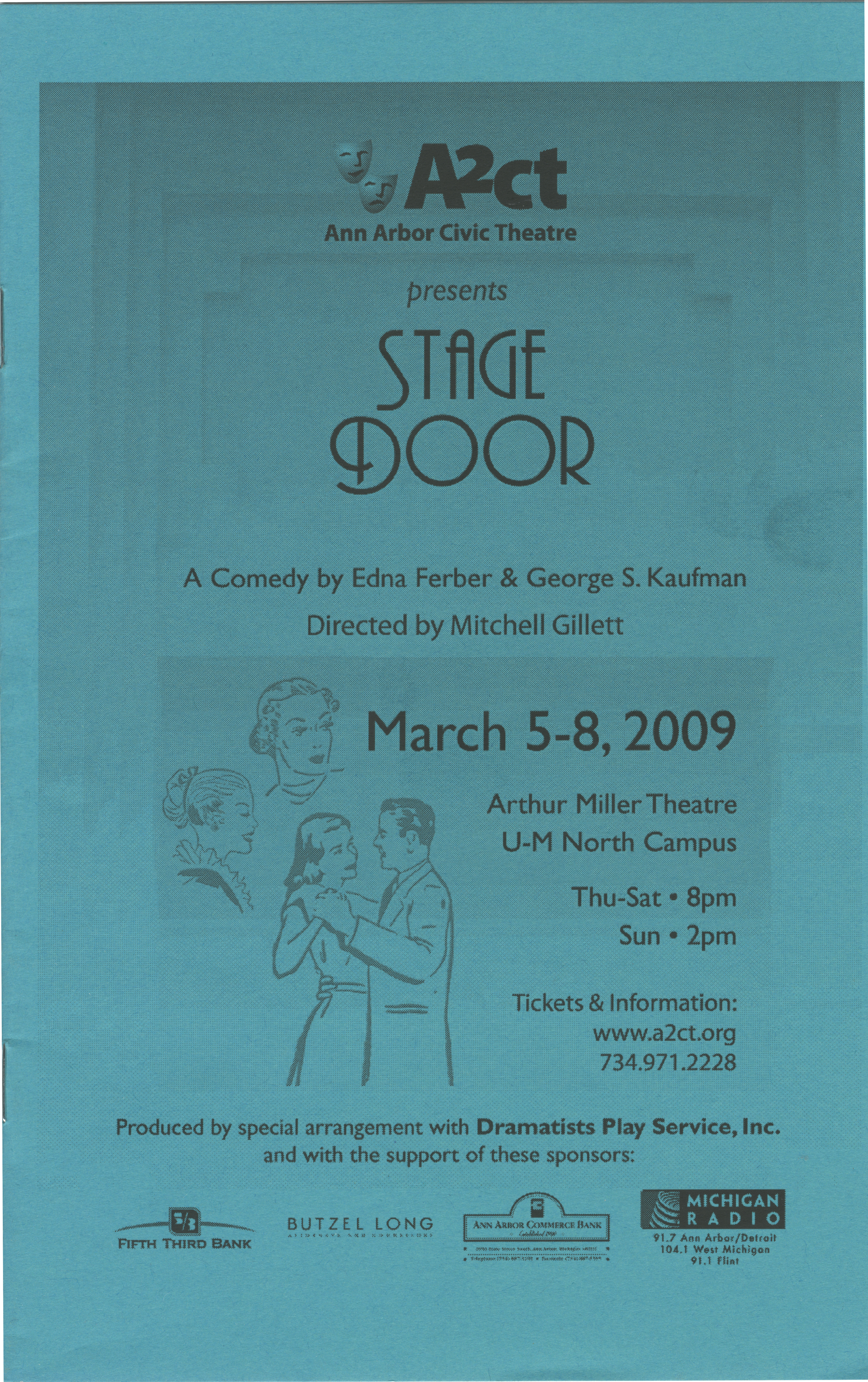 Ann Arbor Civic Theatre Program: Stage Door, March 05, 2009 image