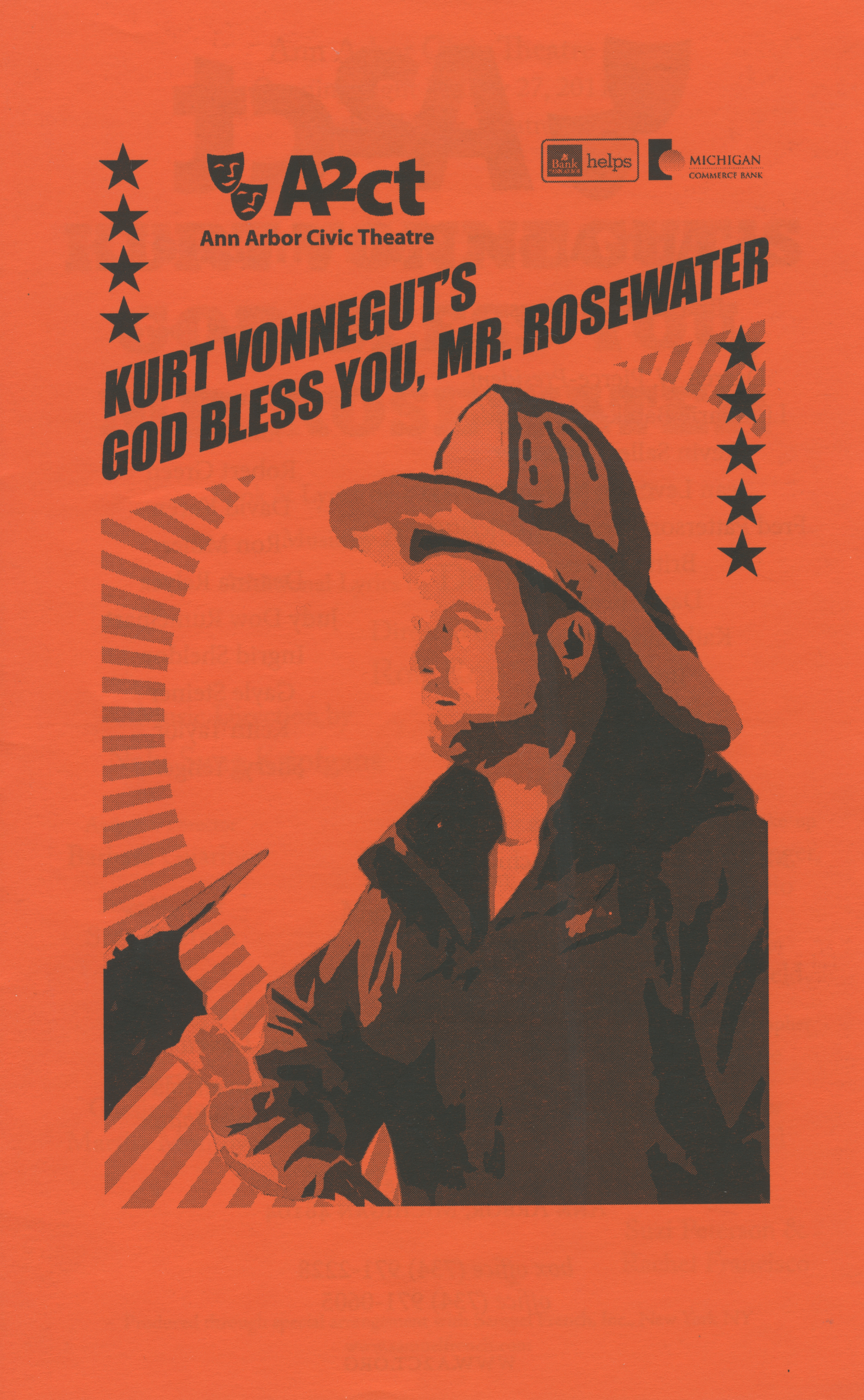 Ann Arbor Civic Theatre Program: God Bless You, Mr. Rosewater, January 27, 2011 image