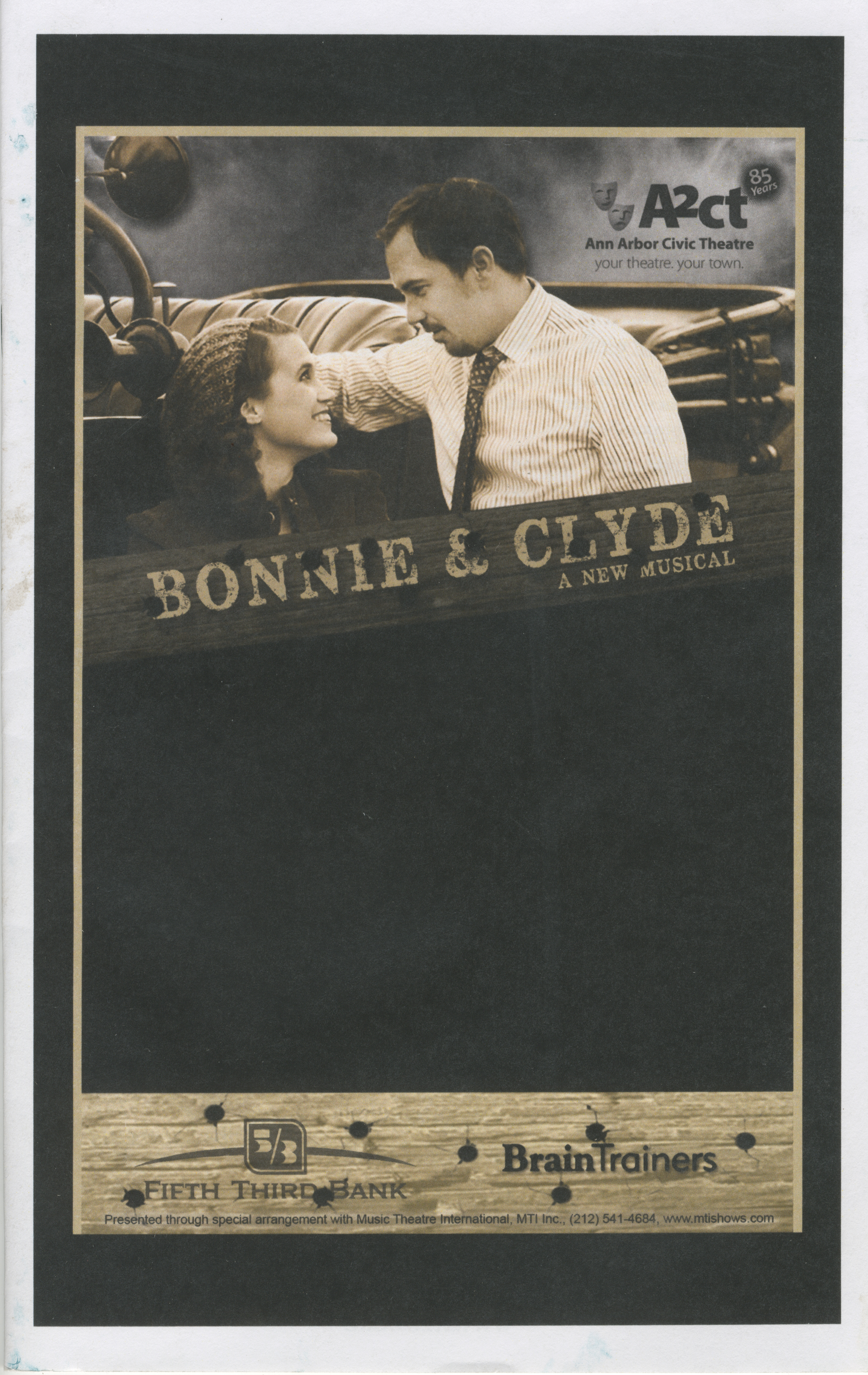 Ann Arbor Civic Theatre Program: Bonnie & Clyde, January 15, 2015 image