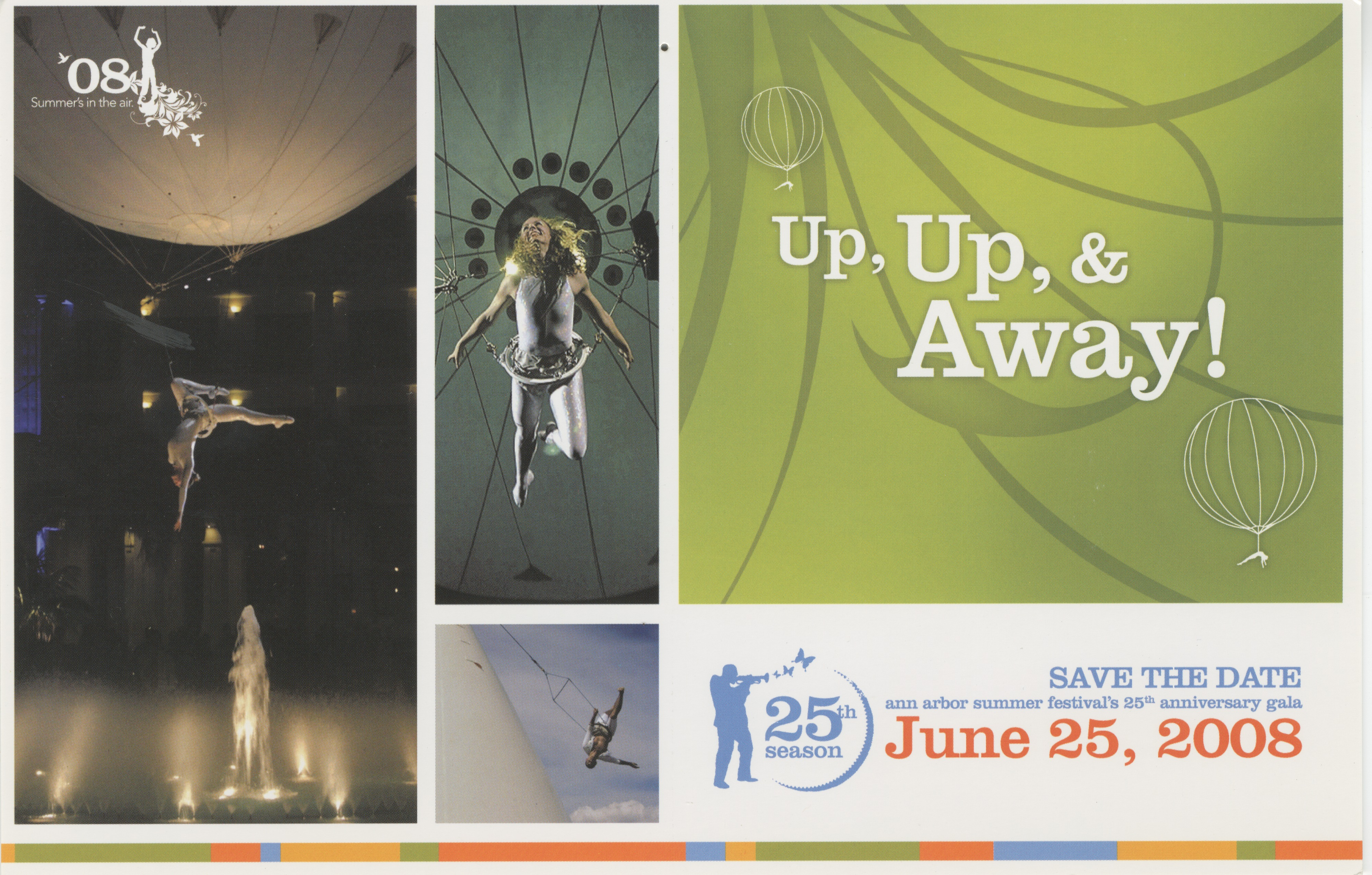 2008 Ann Arbor Summer Festival Postcard: Up Up & Away image
