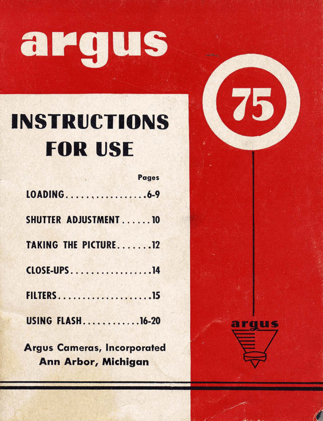 Argus 75 Instructions For Use Ann Arbor District Library