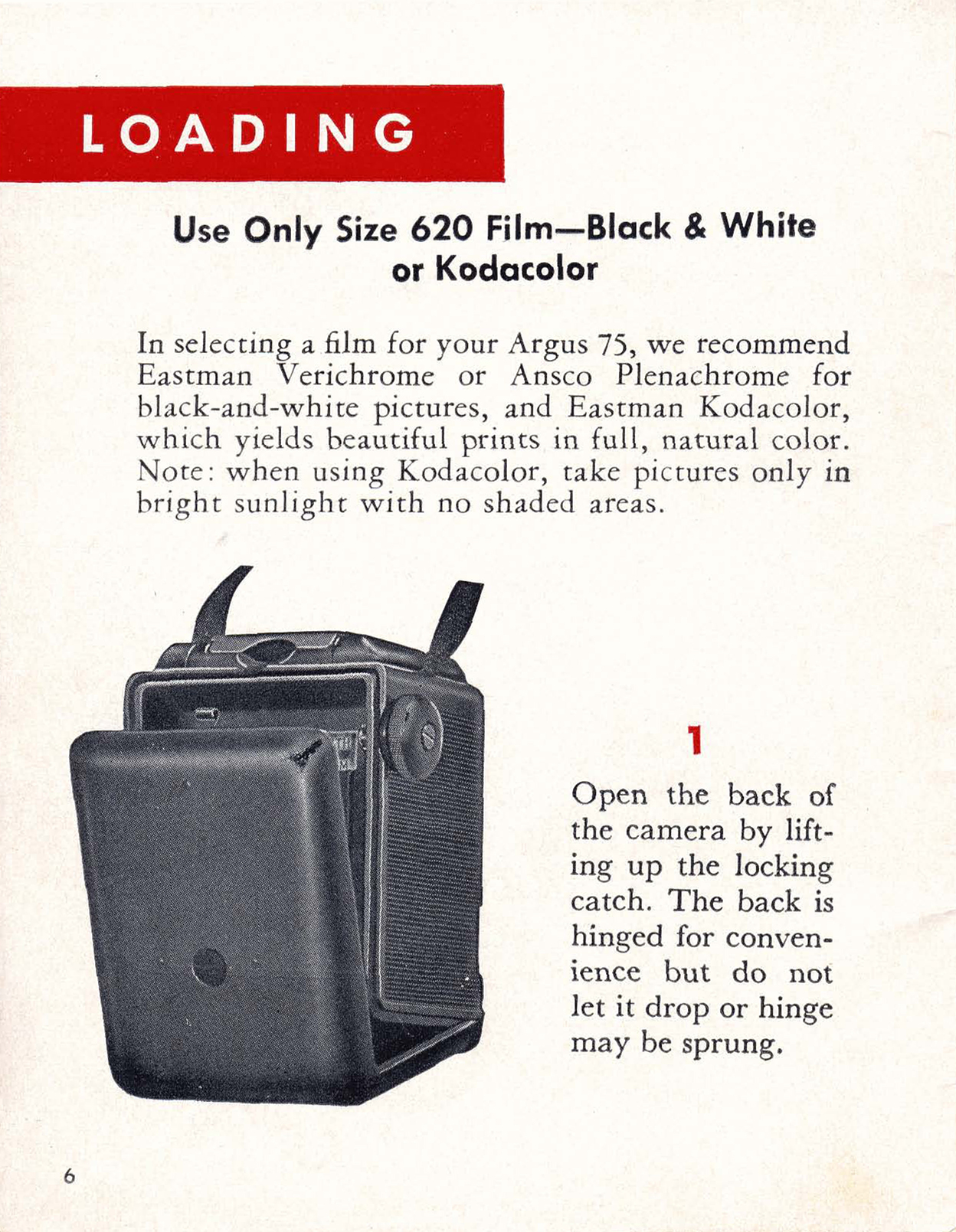 argus 75 instructions for use ann arbor district library rh aadl org Argus 75 Camera Box $75 Vintage Argus Camera