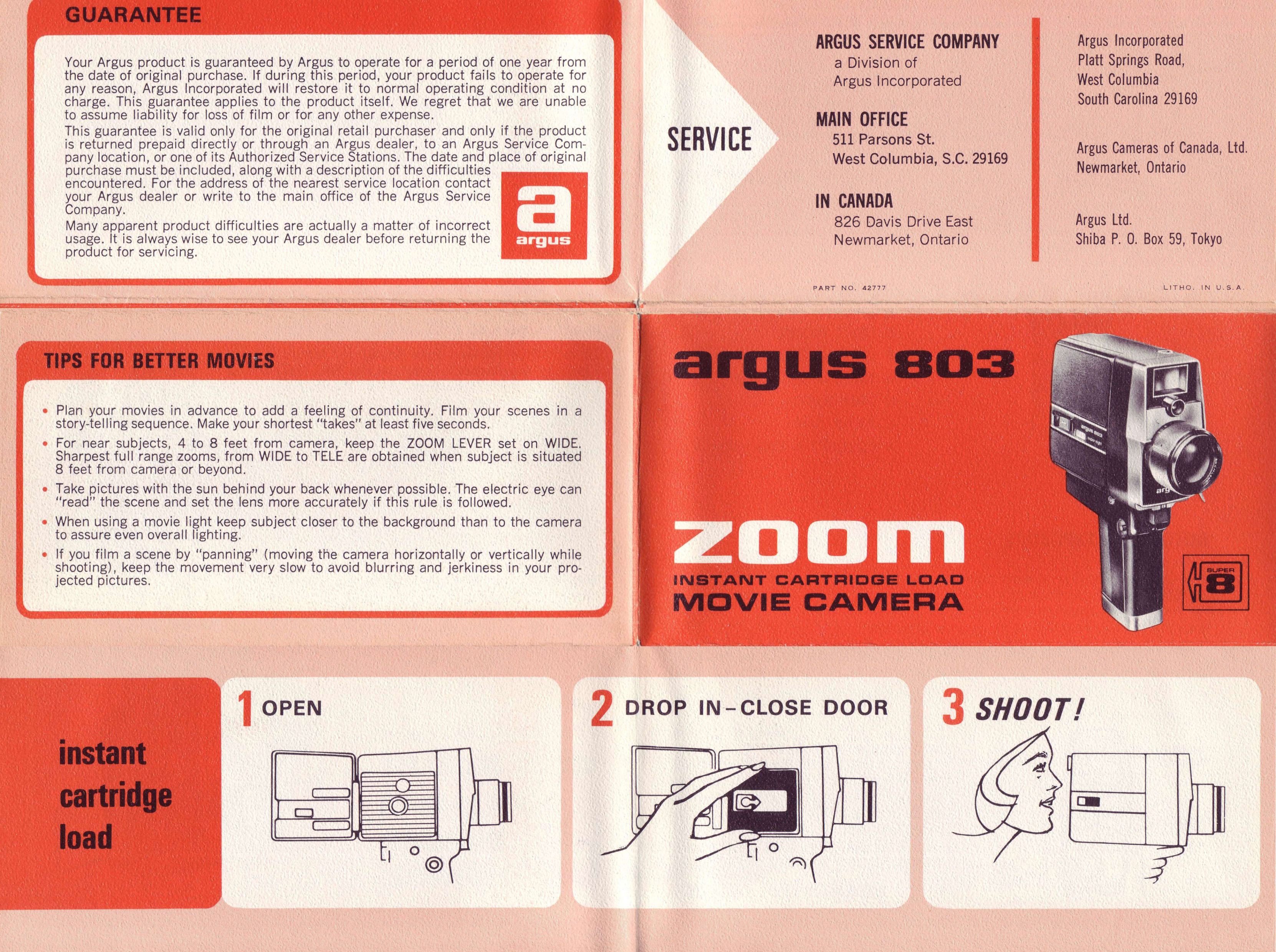 argus 803 zoom movie camera instruction manual ann arbor district rh aadl org camera instruction manual e-m5 mark ii moultrie camera instruction manual francais
