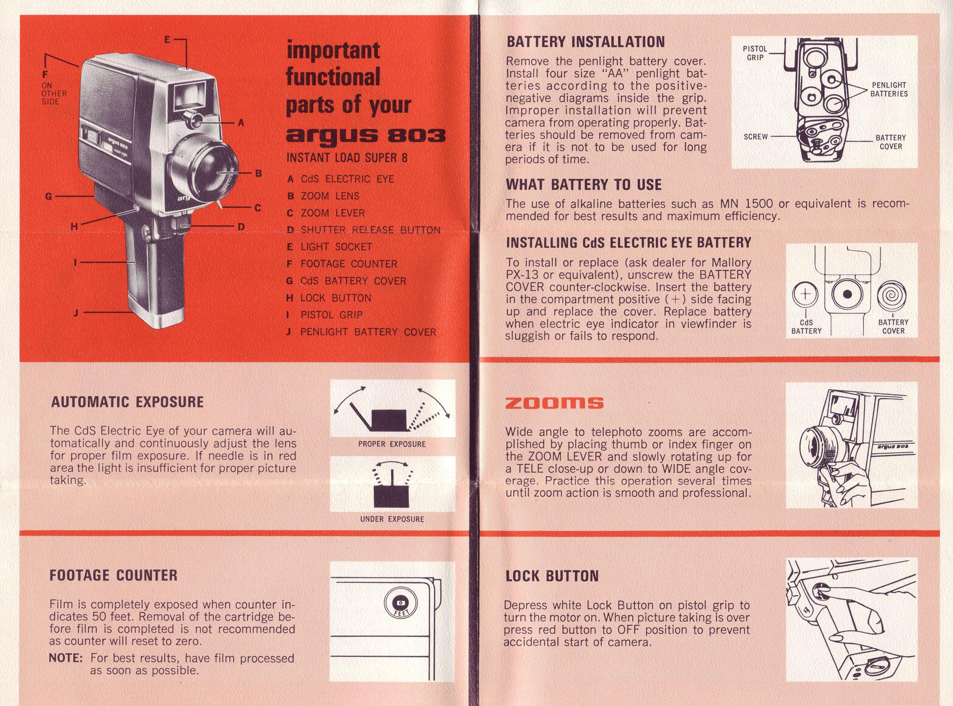 argus 803 zoom movie camera instruction manual ann arbor district rh aadl org camera instruction manual e-m10 mark ii camera instruction manual e-m10 mark ii