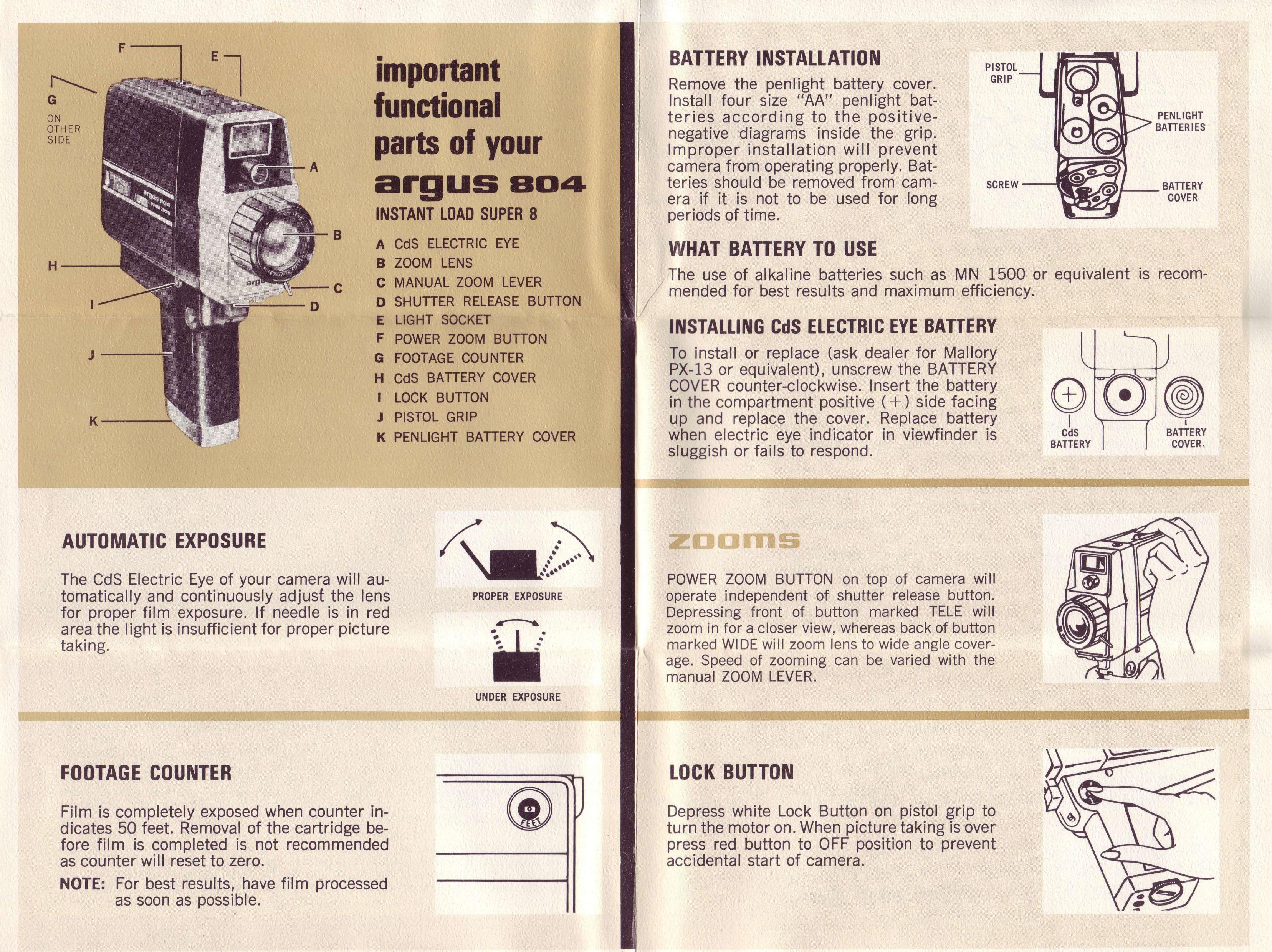 argus 804 power zoom movie camera instruction manual ann arbor rh aadl org camera instruction manual e-m10 camera instruction manual nikon